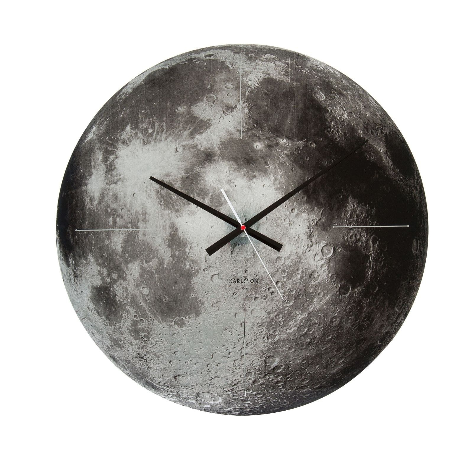 Planet Moon Wall Clock (Mirrored Glass) - Karlsson
