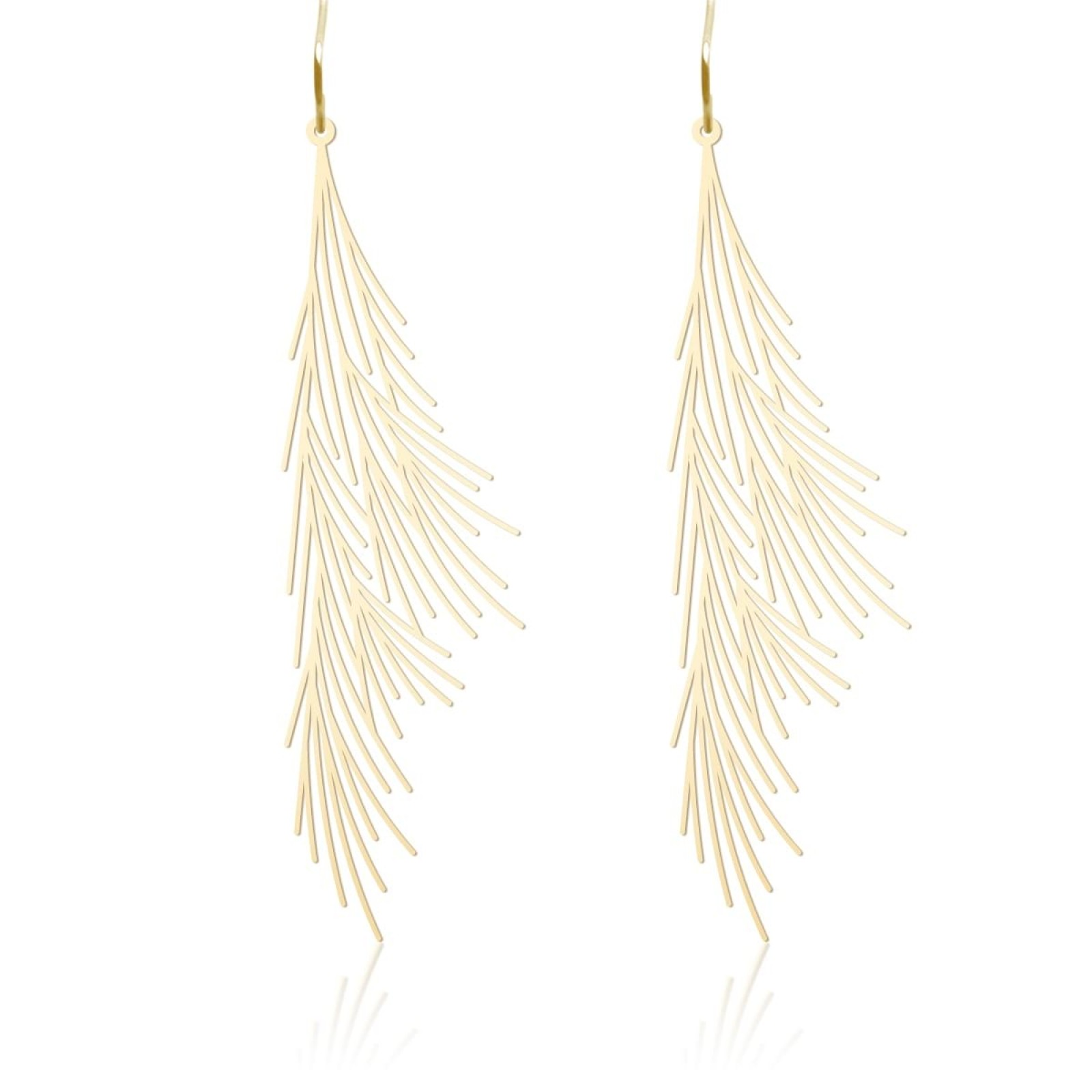 Common Reed Earrings M (Gold) - Moorigin