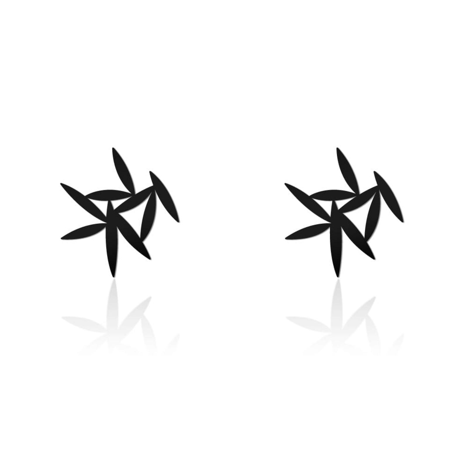 Leafy Earrings XS (Black) - Moorigin