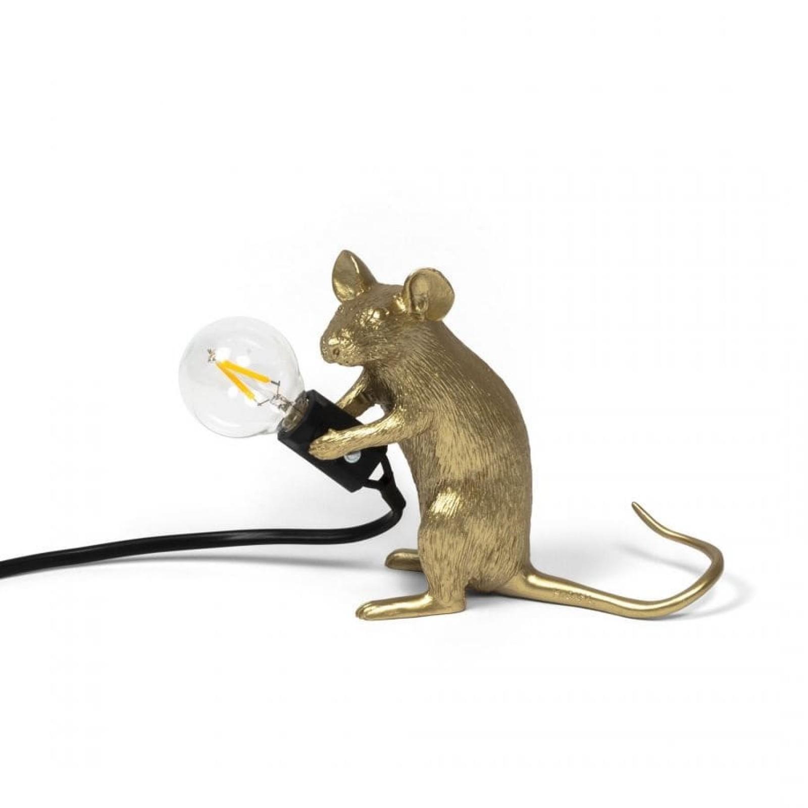 Mouse Lamp Sitting - Mac-Gold - Seletti