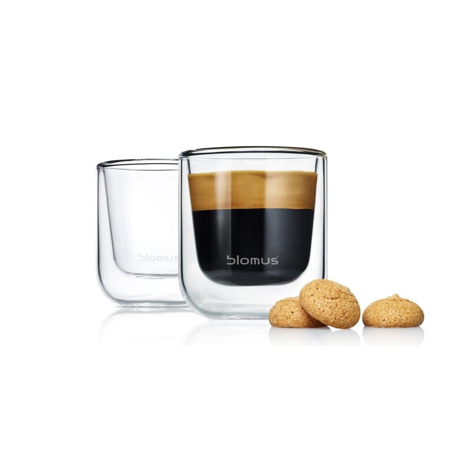 NERO Insulated Espresso Glasses 80ml (Set of 2) - Blomus