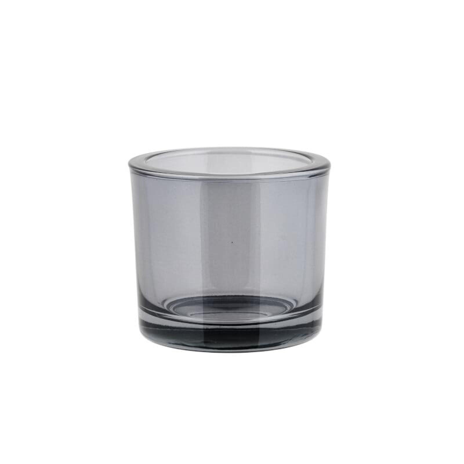 NERO Glass Tealight Holder S (Smoke) - Blomus