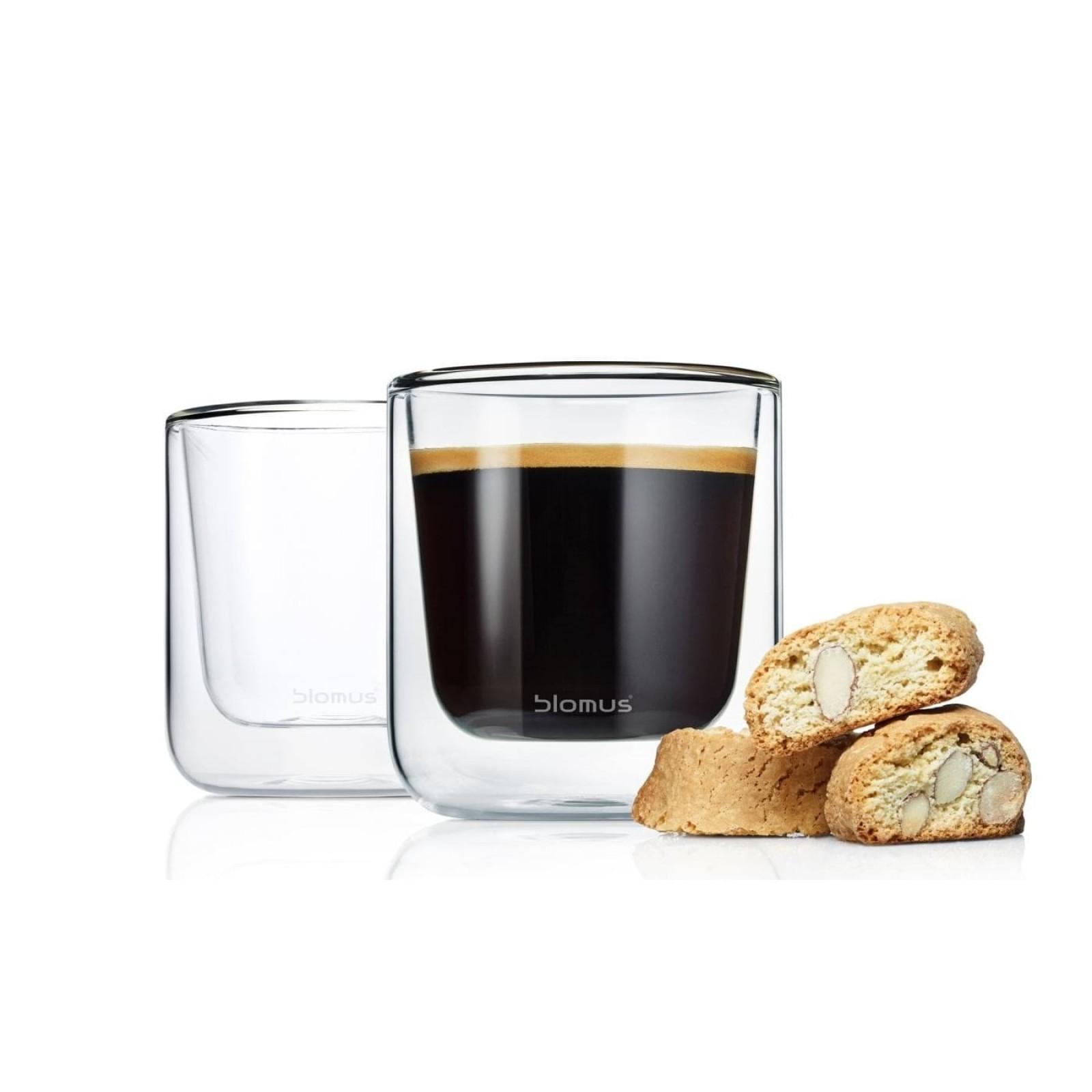 NERO Insulated Coffee Glasses 200 ml (Set of 2) - Blomus