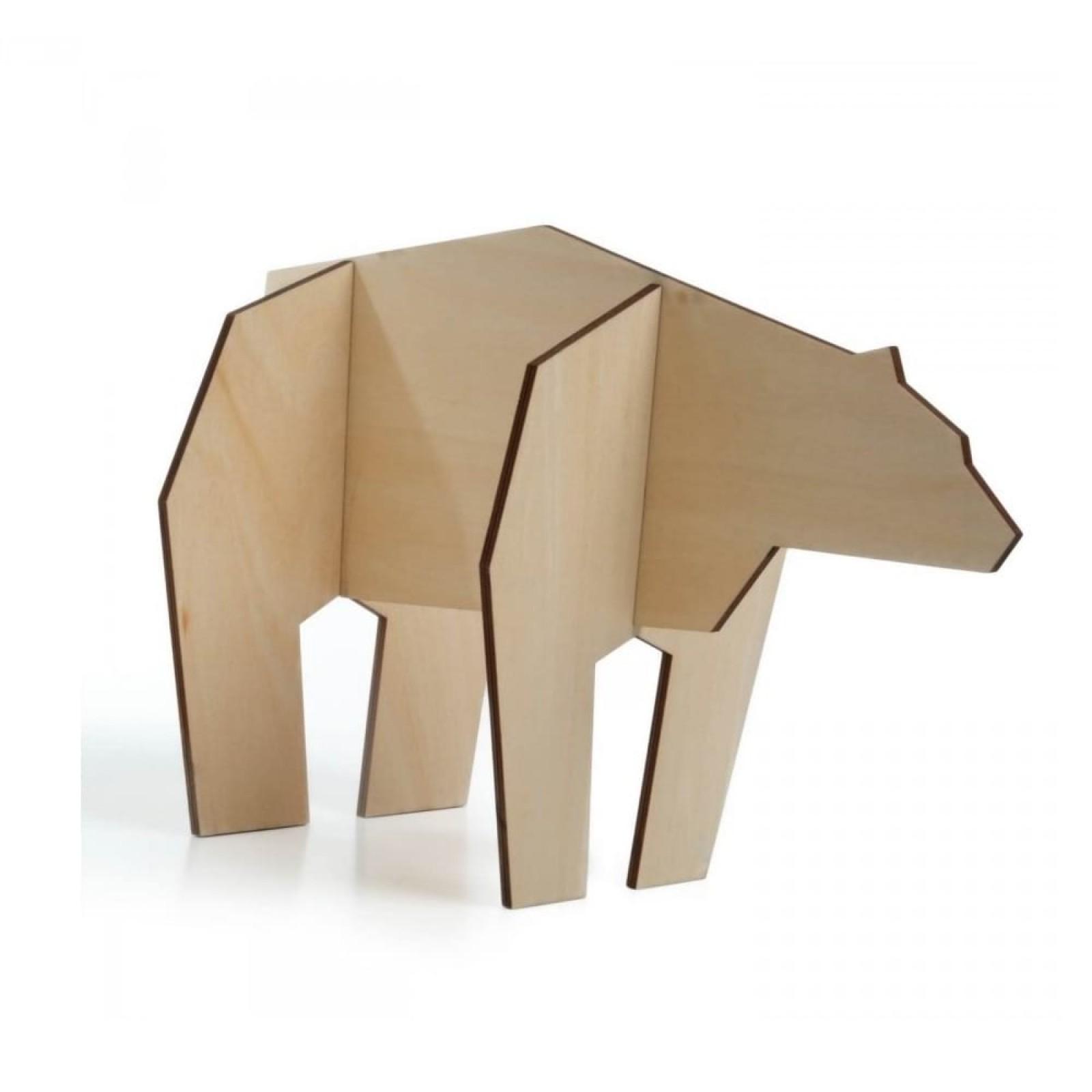 Nordic Large Bear Figurine (Wood) - Qualy