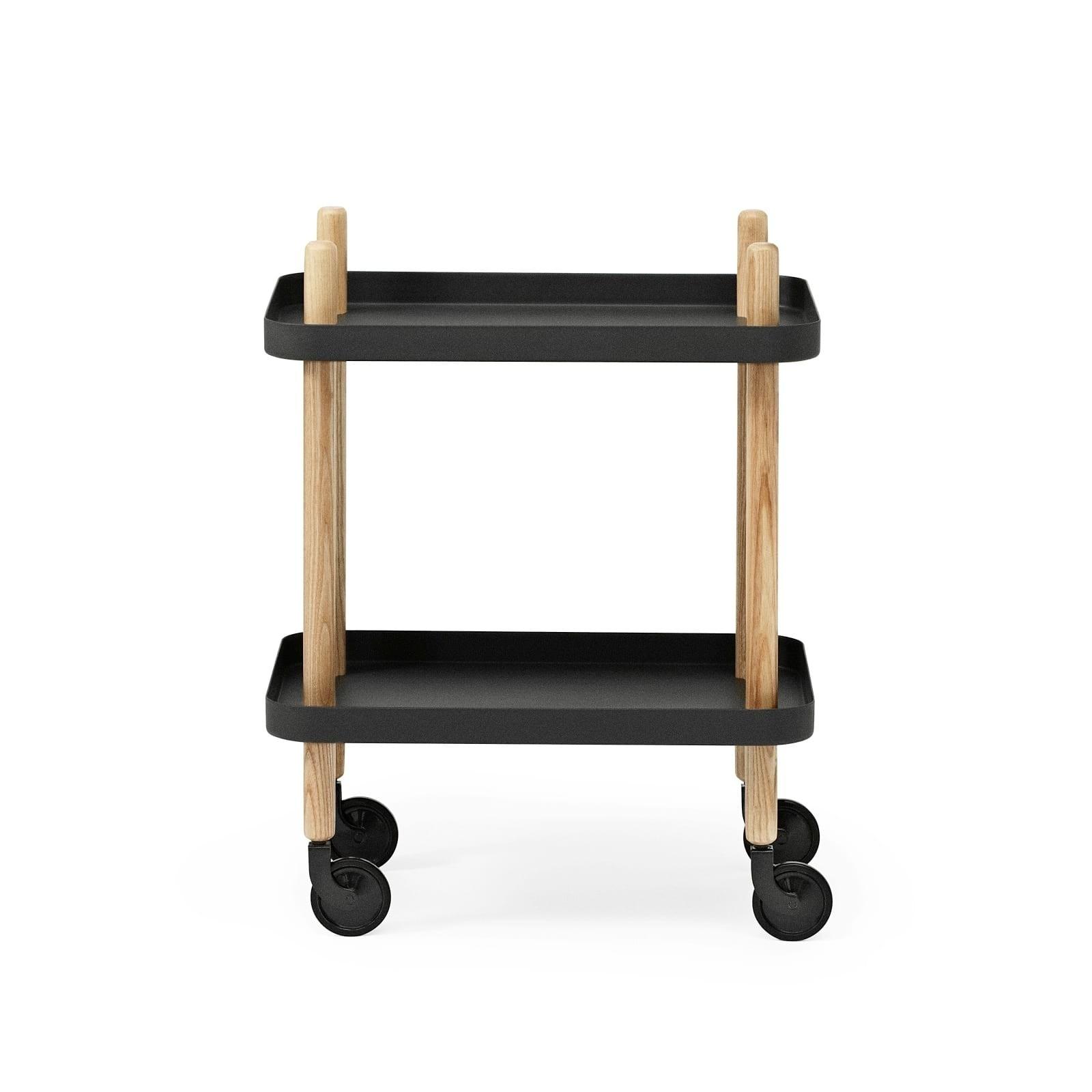Block Table Trolley (Black / Ashwood) - Normann Copenhagen