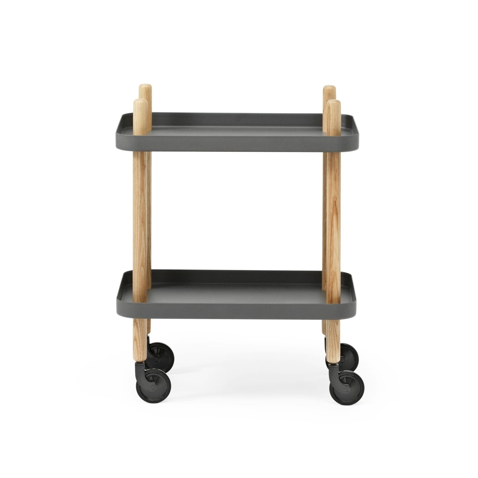 Block Table Trolley (Dark Grey / Ashwood) - Normann Copenhagen