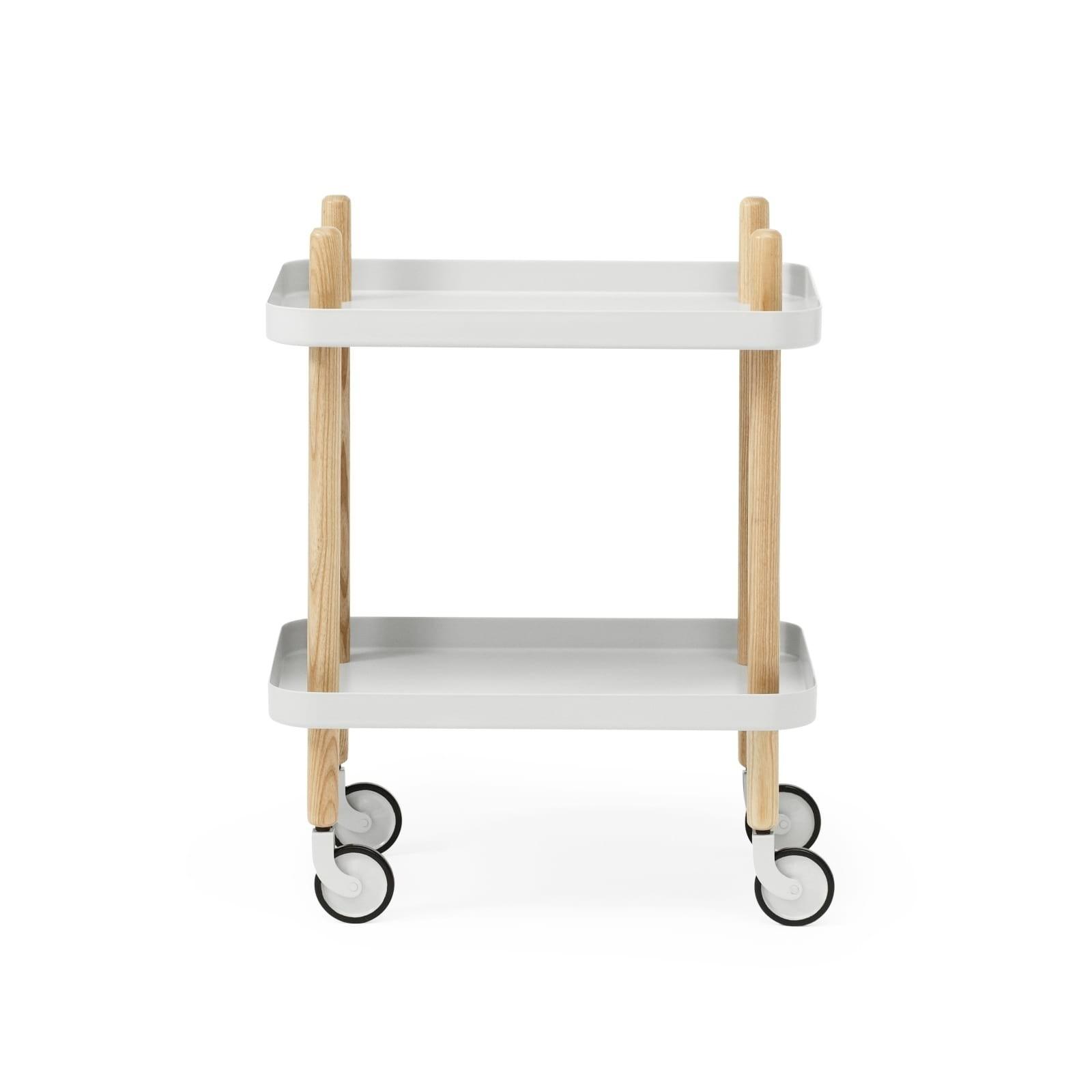 Block Table Trolley (Light Grey / Ashwood) - Normann Copenhagen
