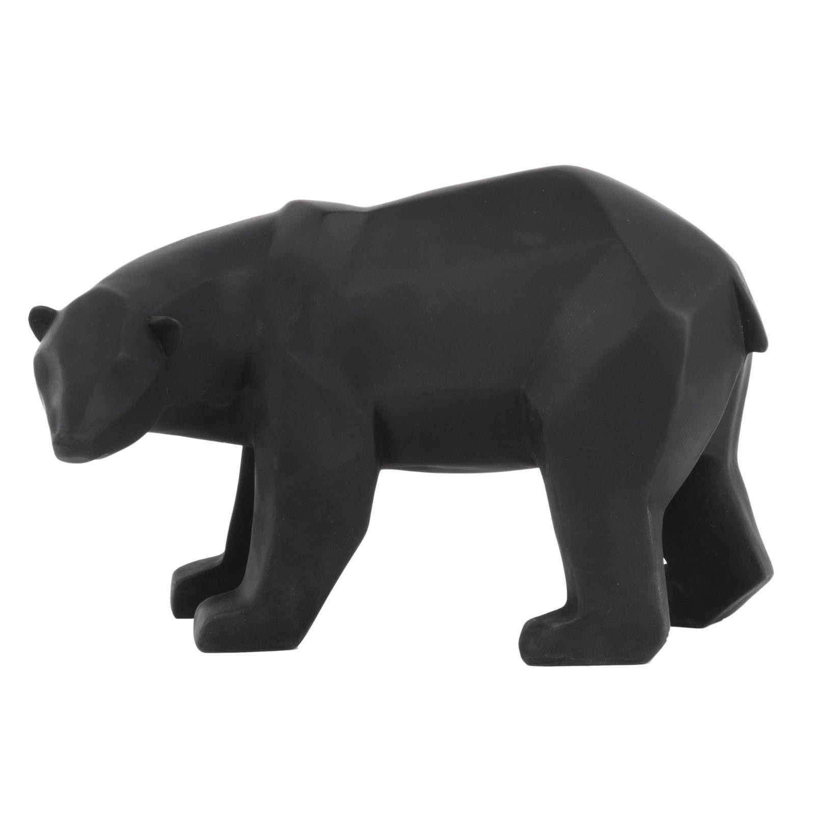 Origami Bear Statue Large (Black) - Present Time