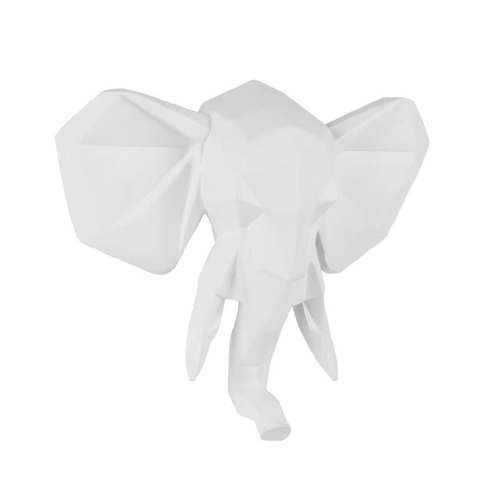 Origami Elephant Wall Hanger (Matt White) - Present Time