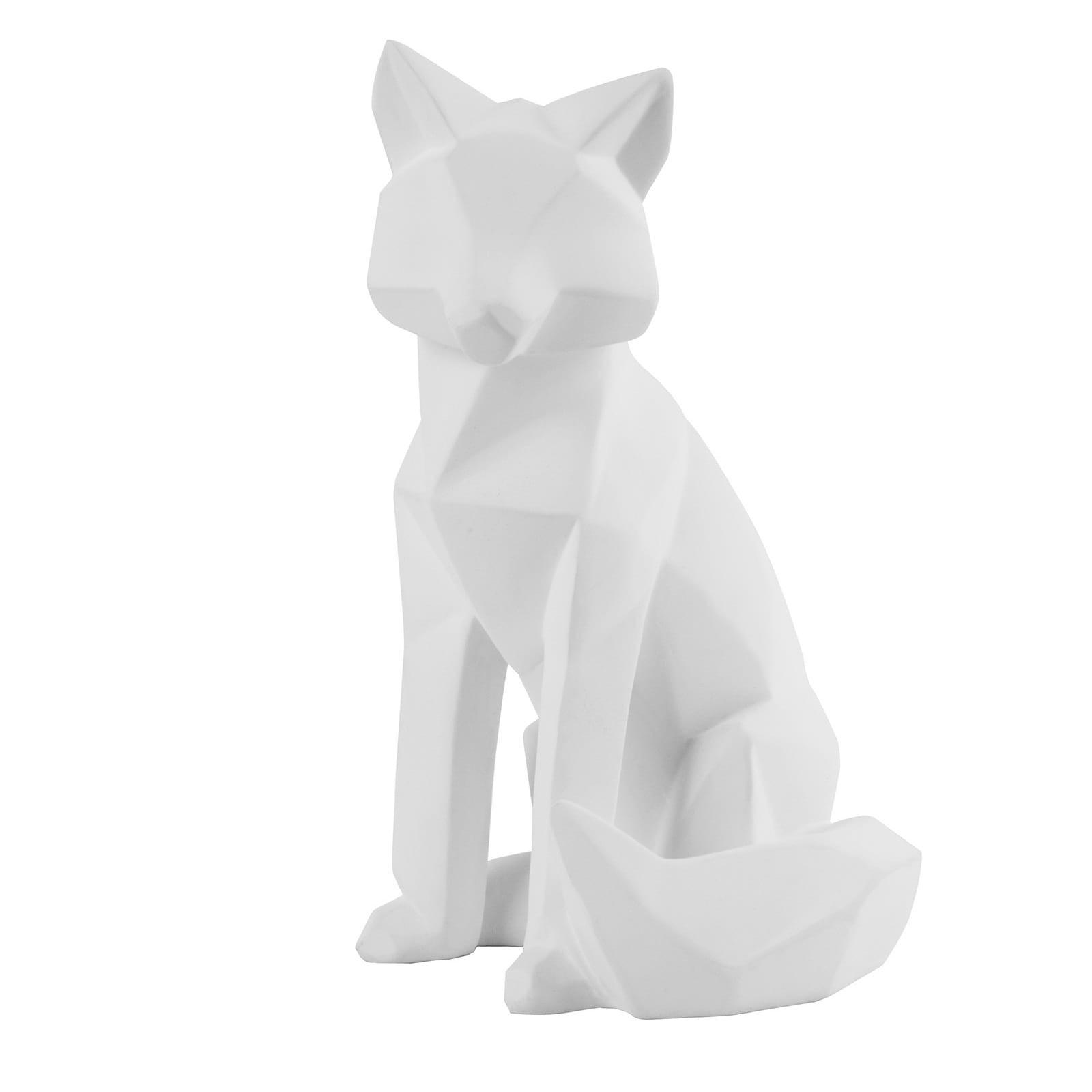 Origami Fox Statue Large (Matt White) - Present Time