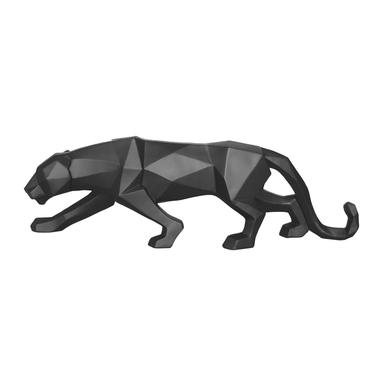Origami Panther Statue (Matt Black) - Present Time