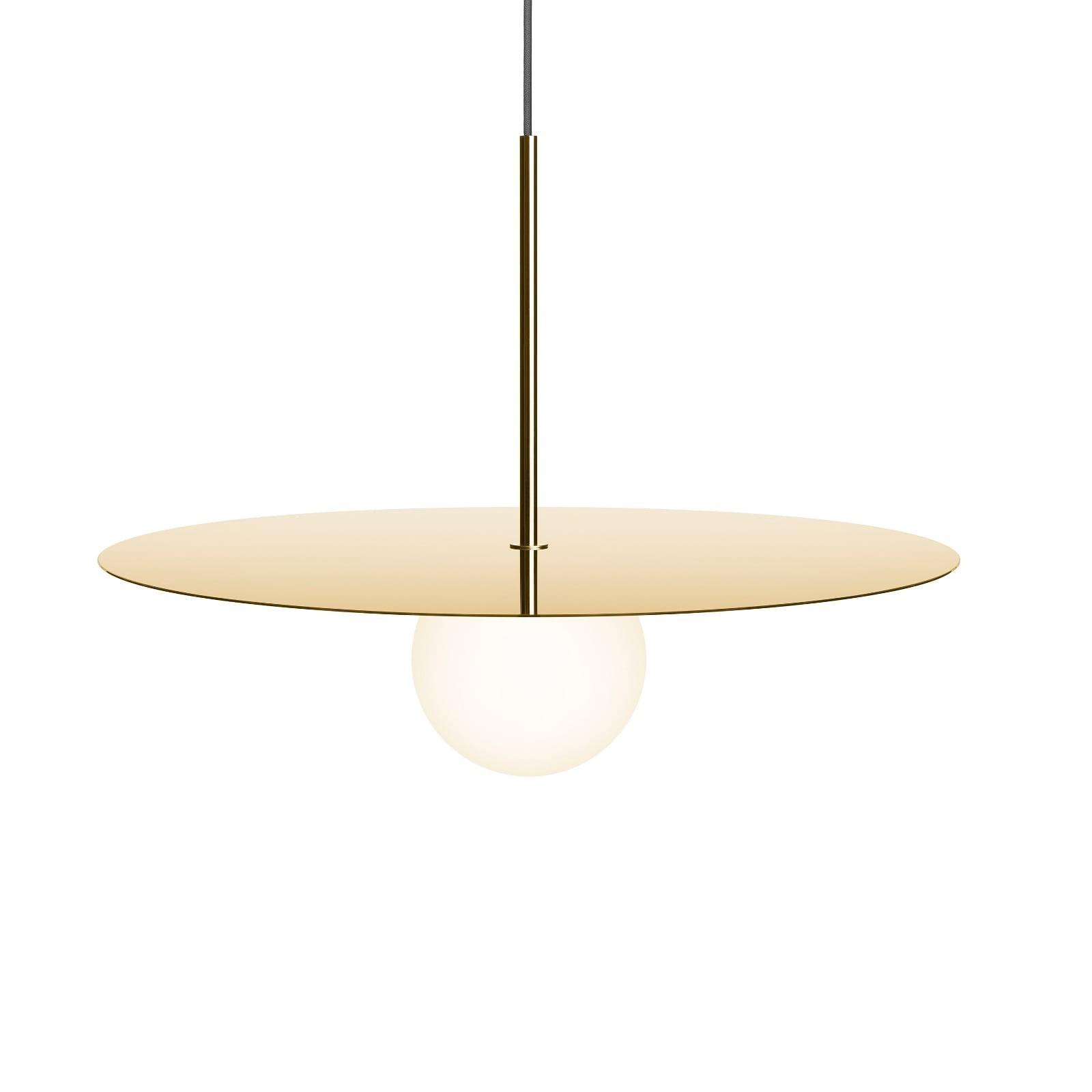 Bola Disc LED Pendant Lamp (Brass) - Pablo Designs
