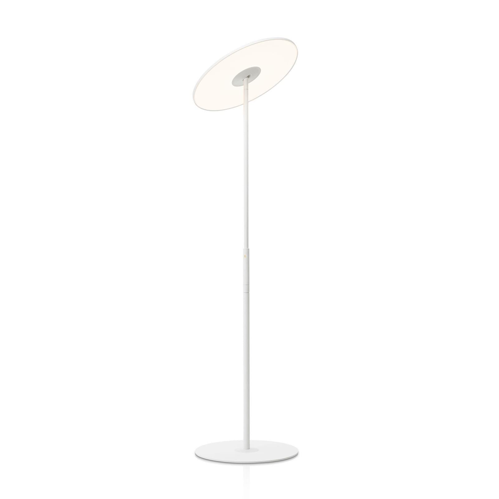 Circa Flat Panel LED Floor Lamp (White) - Pablo Designs