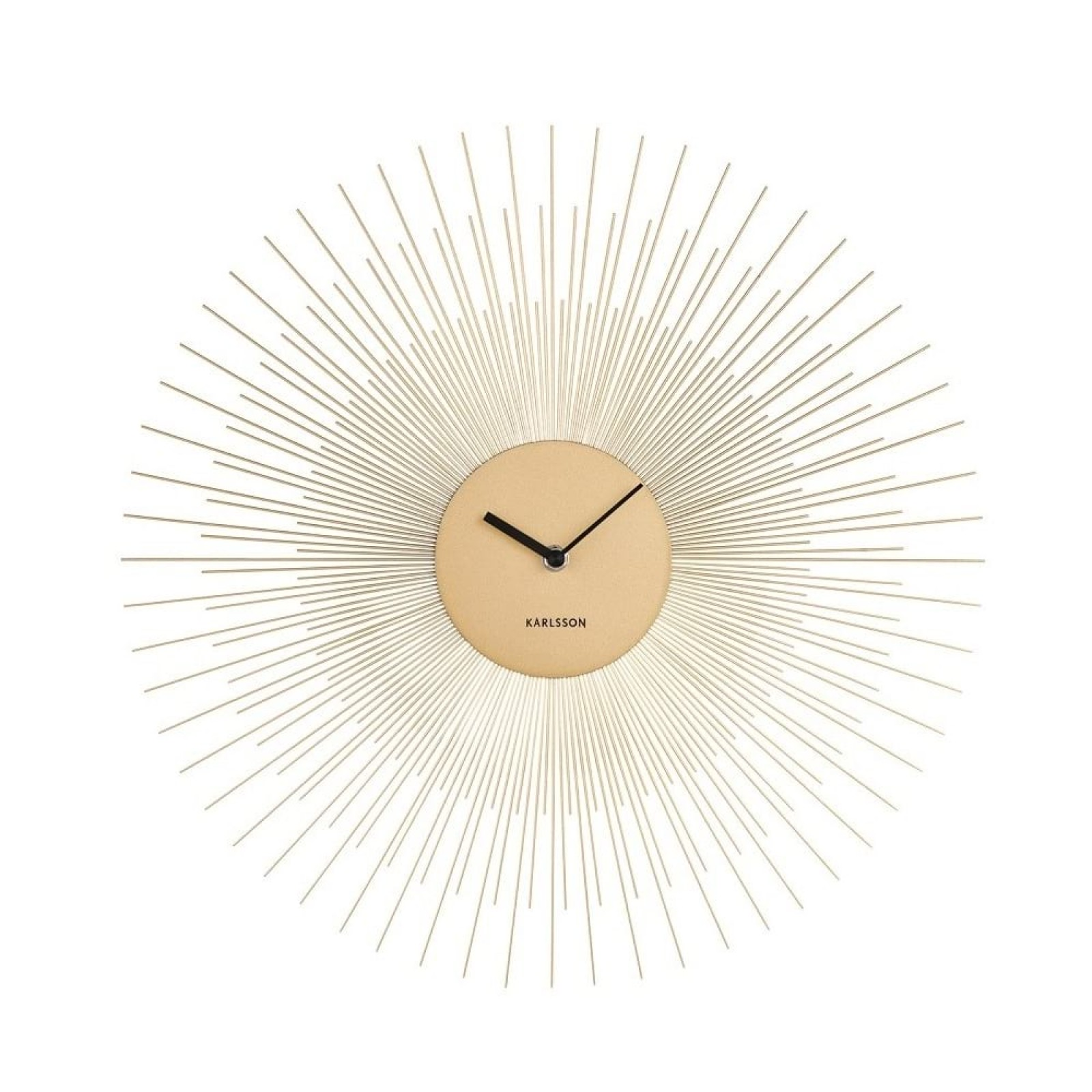 Peony Wall Clock (Steel Gold) - Karlsson