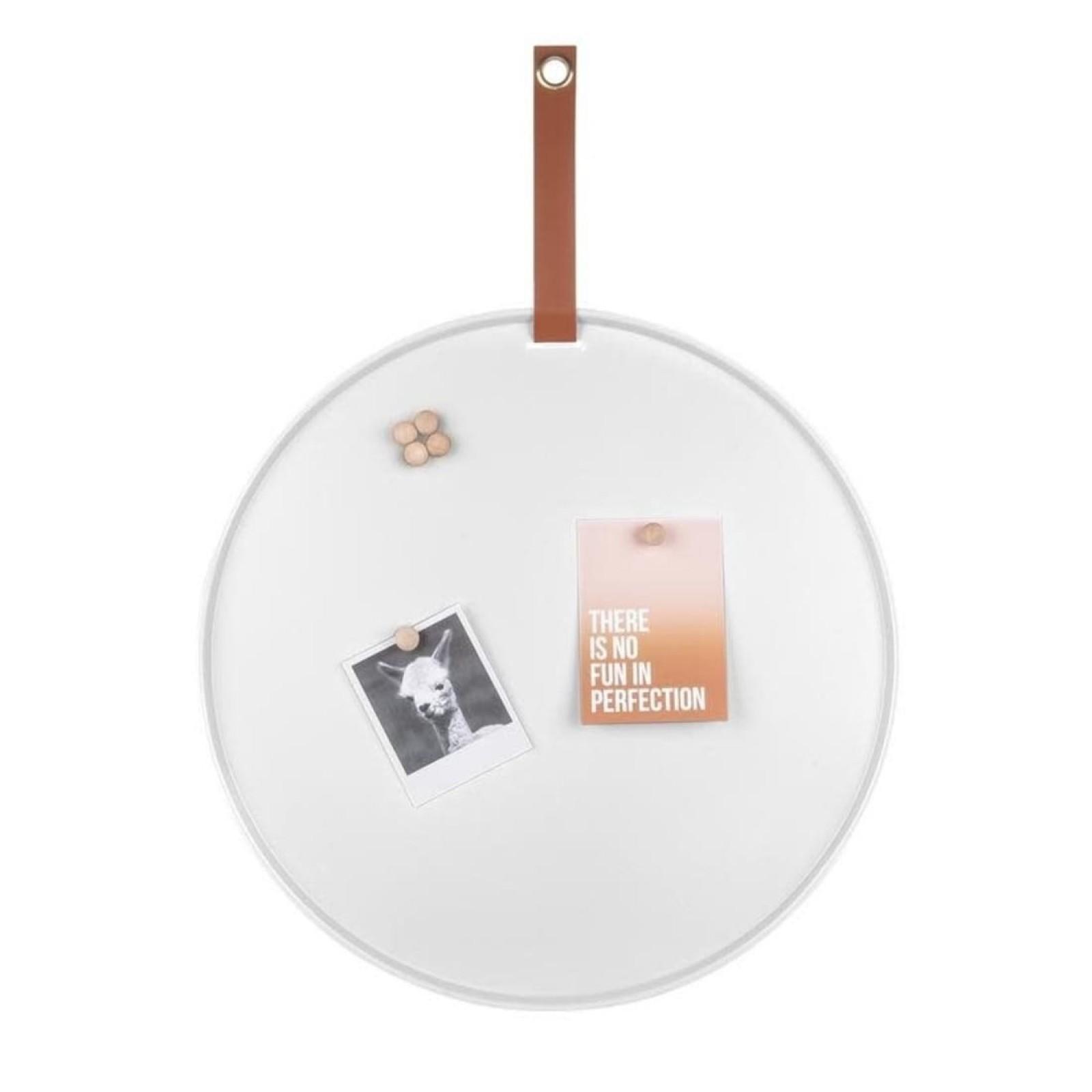Perky Round Memo Board (White) - Present Time
