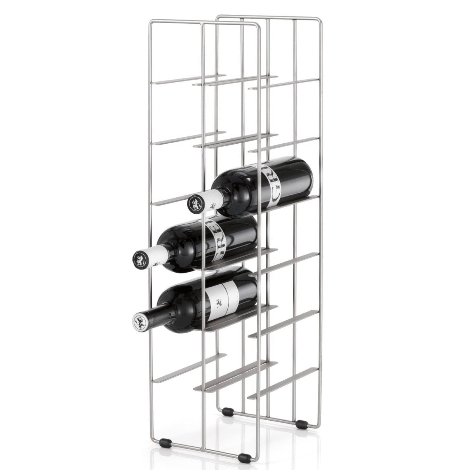 Pilare Wine Bottle Storage Unit for 12 bottles (Matt Steel) - Blomus