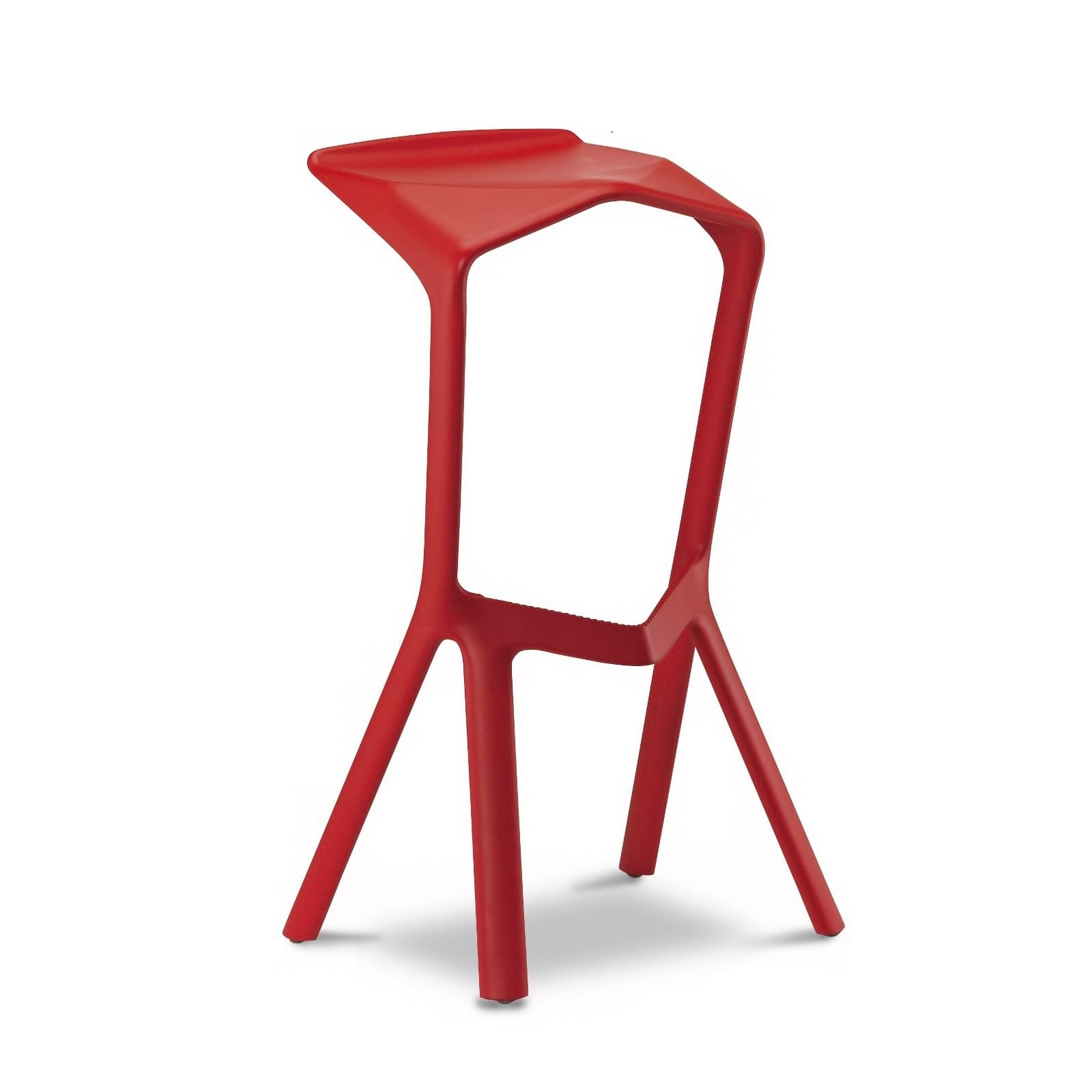 MIURA Bar Stool (Traffic Red) - Plank