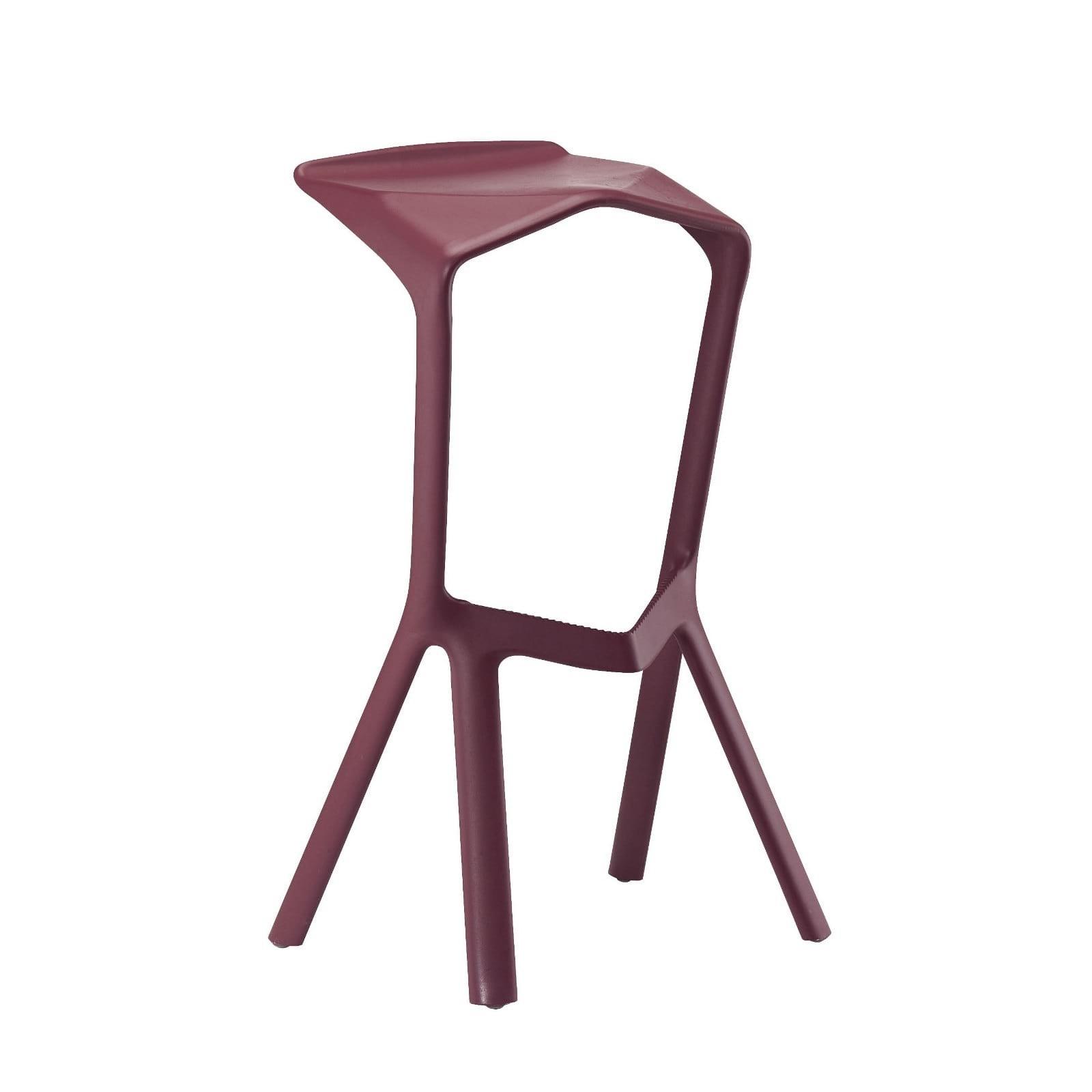MIURA Bar Stool (Wine Red) - Plank