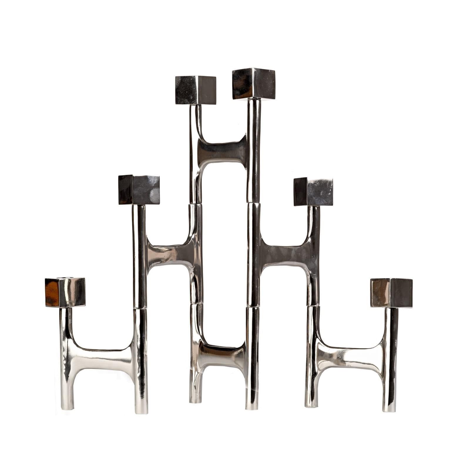 Candle Holder Folding Nickel Square - Pols Potten
