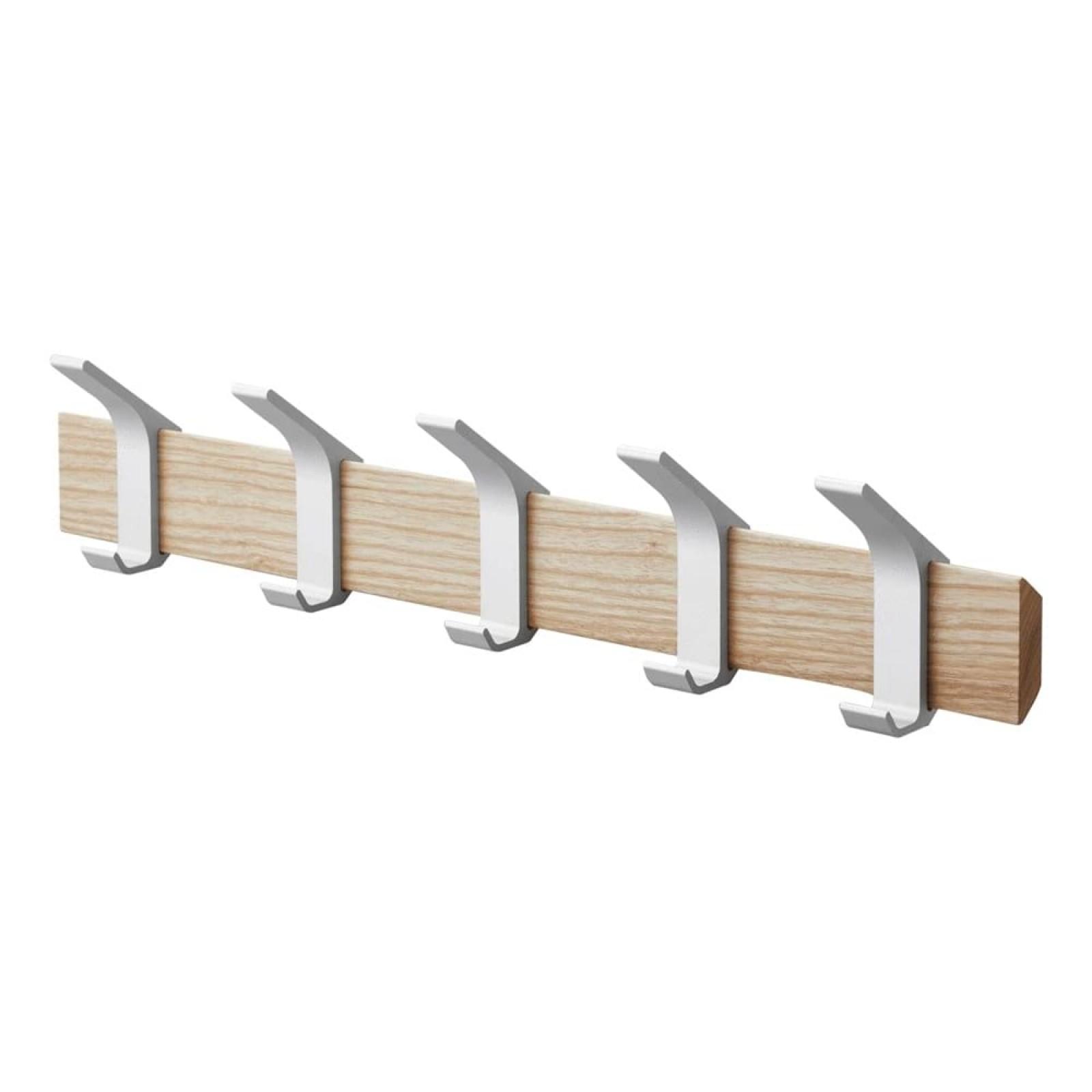 Rin Wall Coat Rack (Ash / Aluminum) - Yamazaki