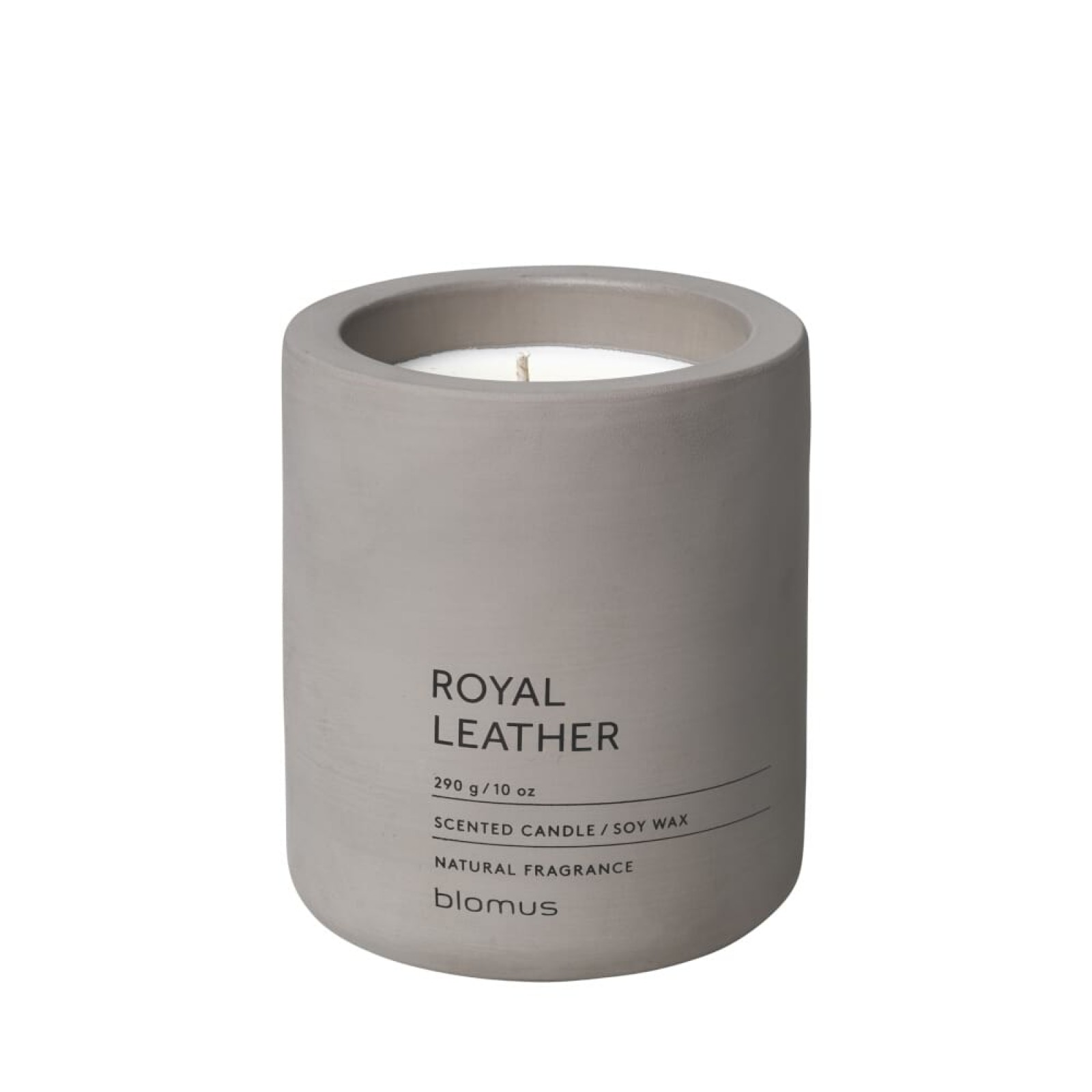 Scented Candle FRAGA L Royal Leather - Blomus