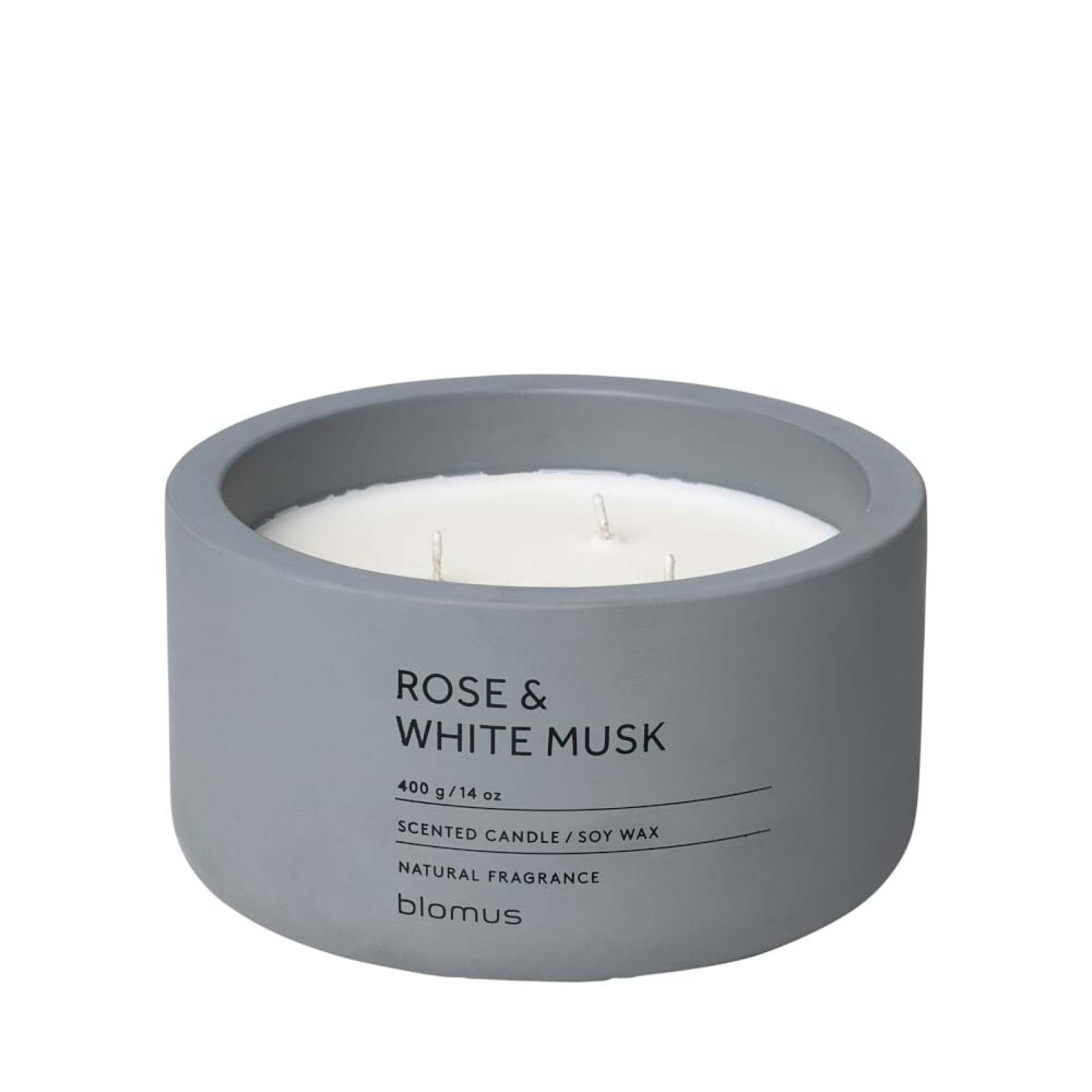 Scented Candle FRAGA XL Rose & White Musk - Blomus