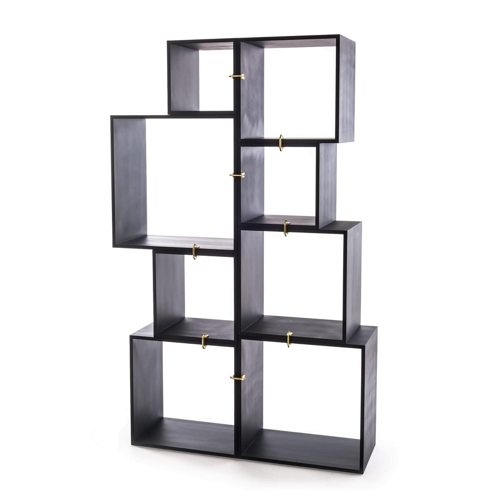 Assemblage Modular Bookcase (Anthracite) - Seletti