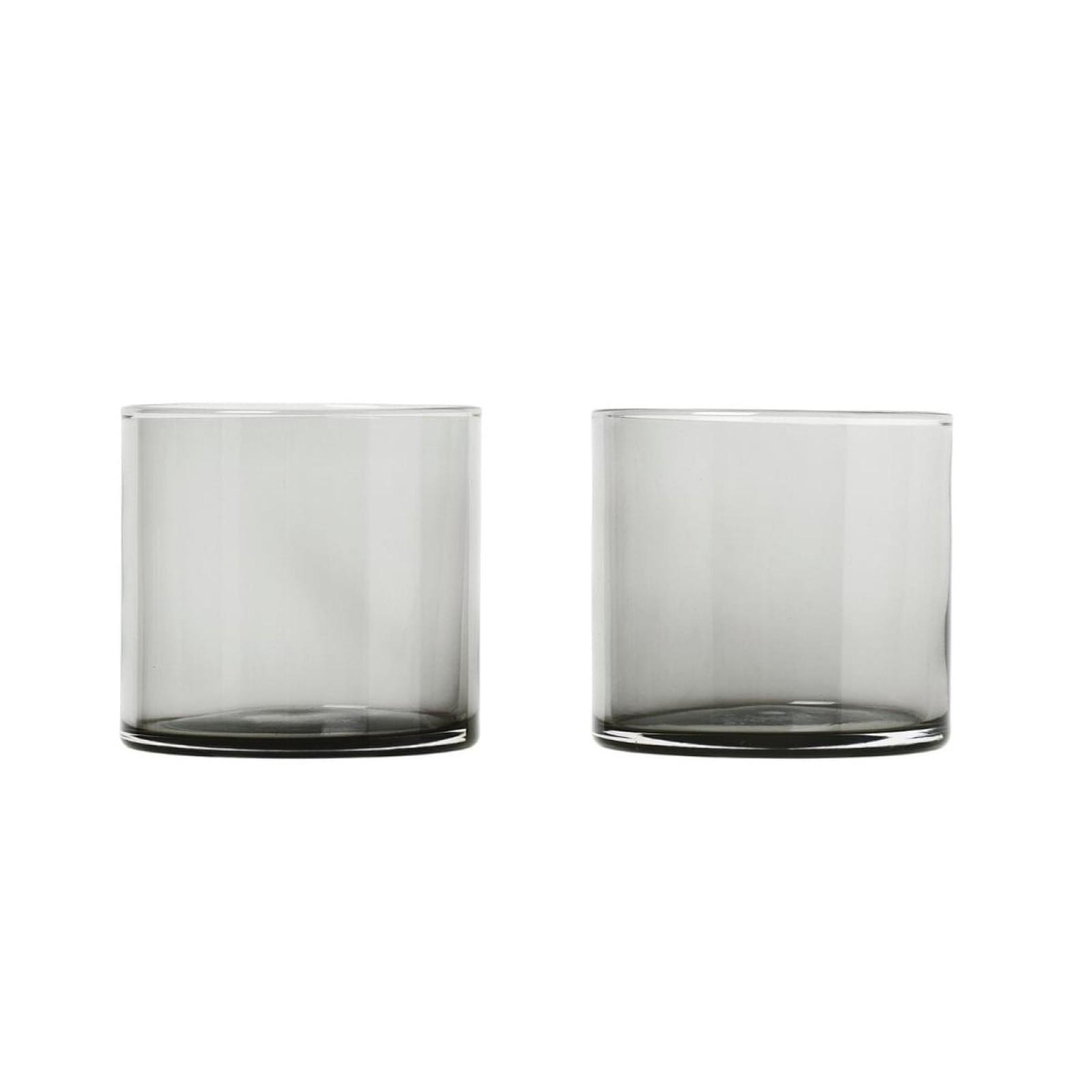 MERA Set of 2 Tumblers 200ml Smoke Glass - Blomus