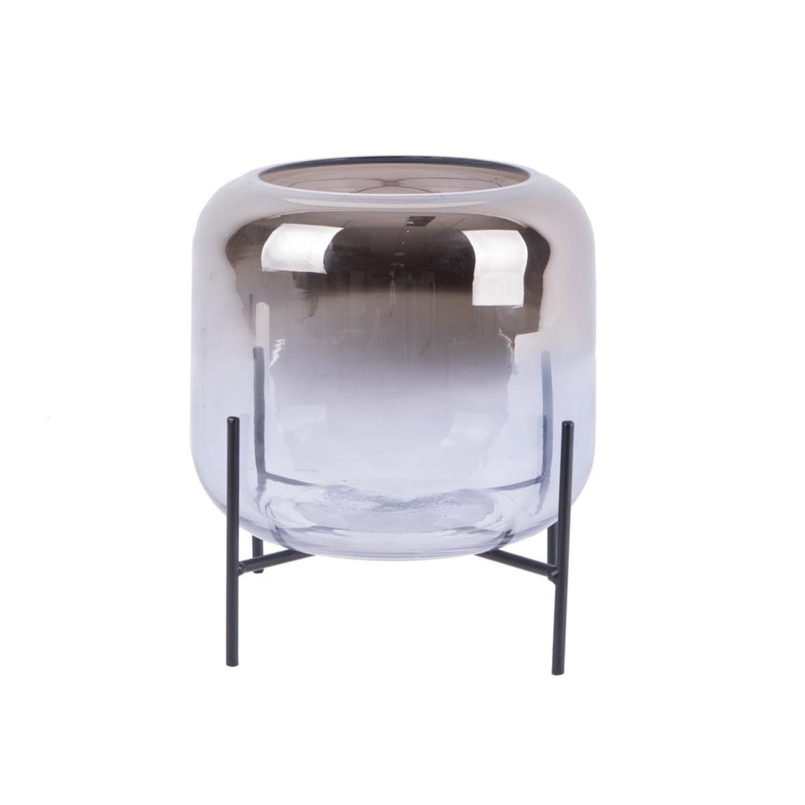 Silver Fade Low Candleholder - Present Time