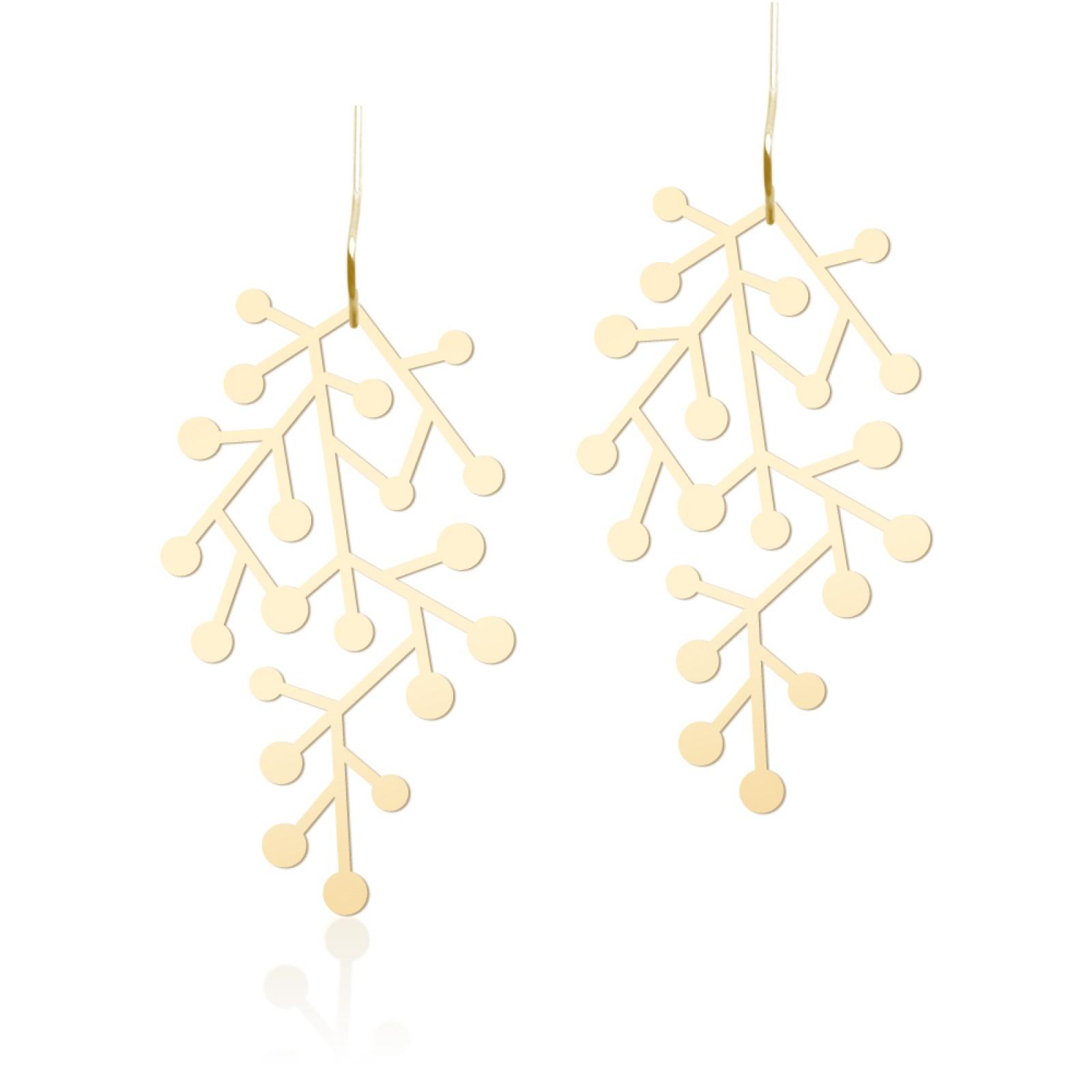 Snow Days Earrings S (Gold) - Moorigin