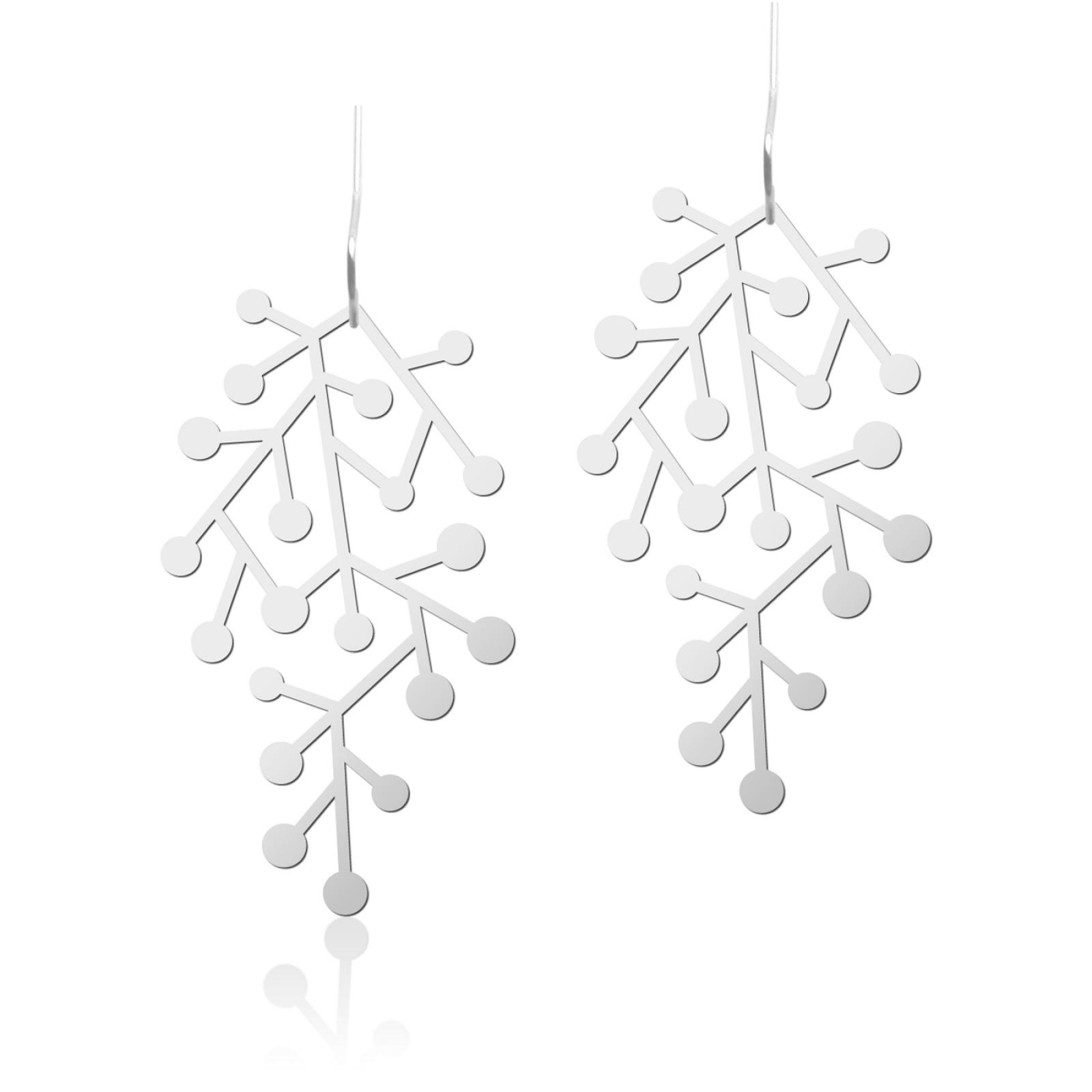 Snow Days Earrings S (Silver) - Moorigin