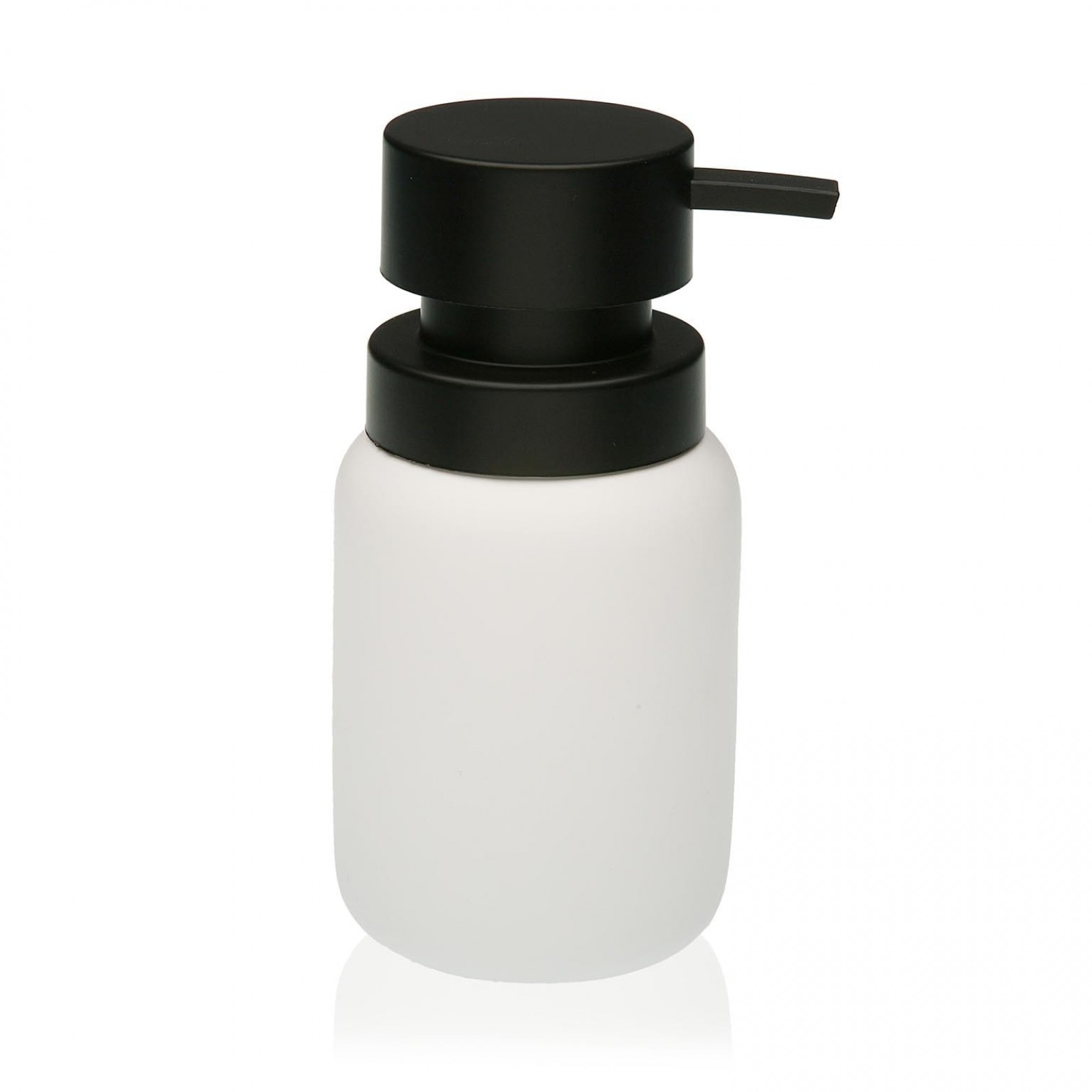 Soap Dispenser White & Black (Resin) - Versa