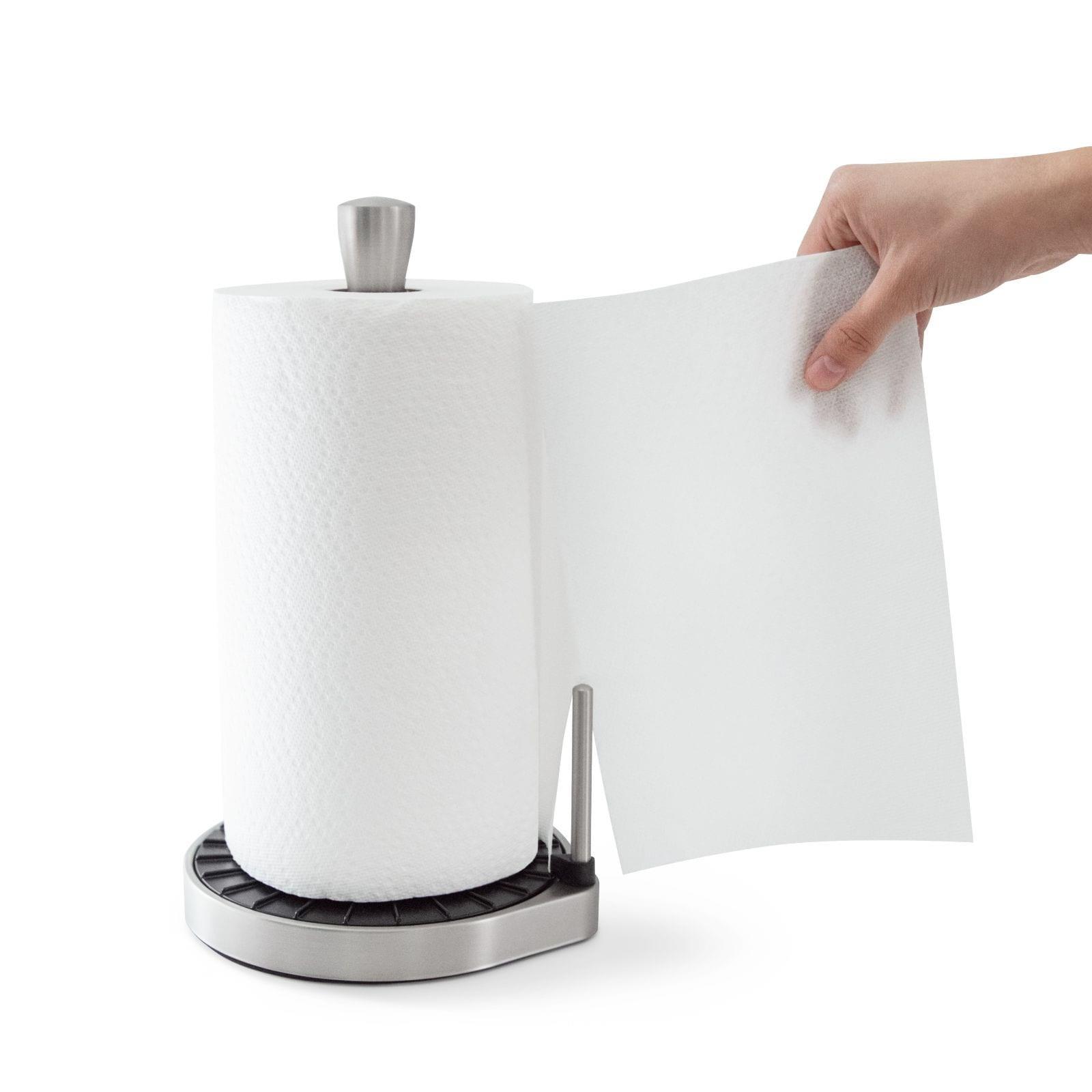 Spin Click N Tear Paper Towel Holder (Black / Nickel) - Umbra