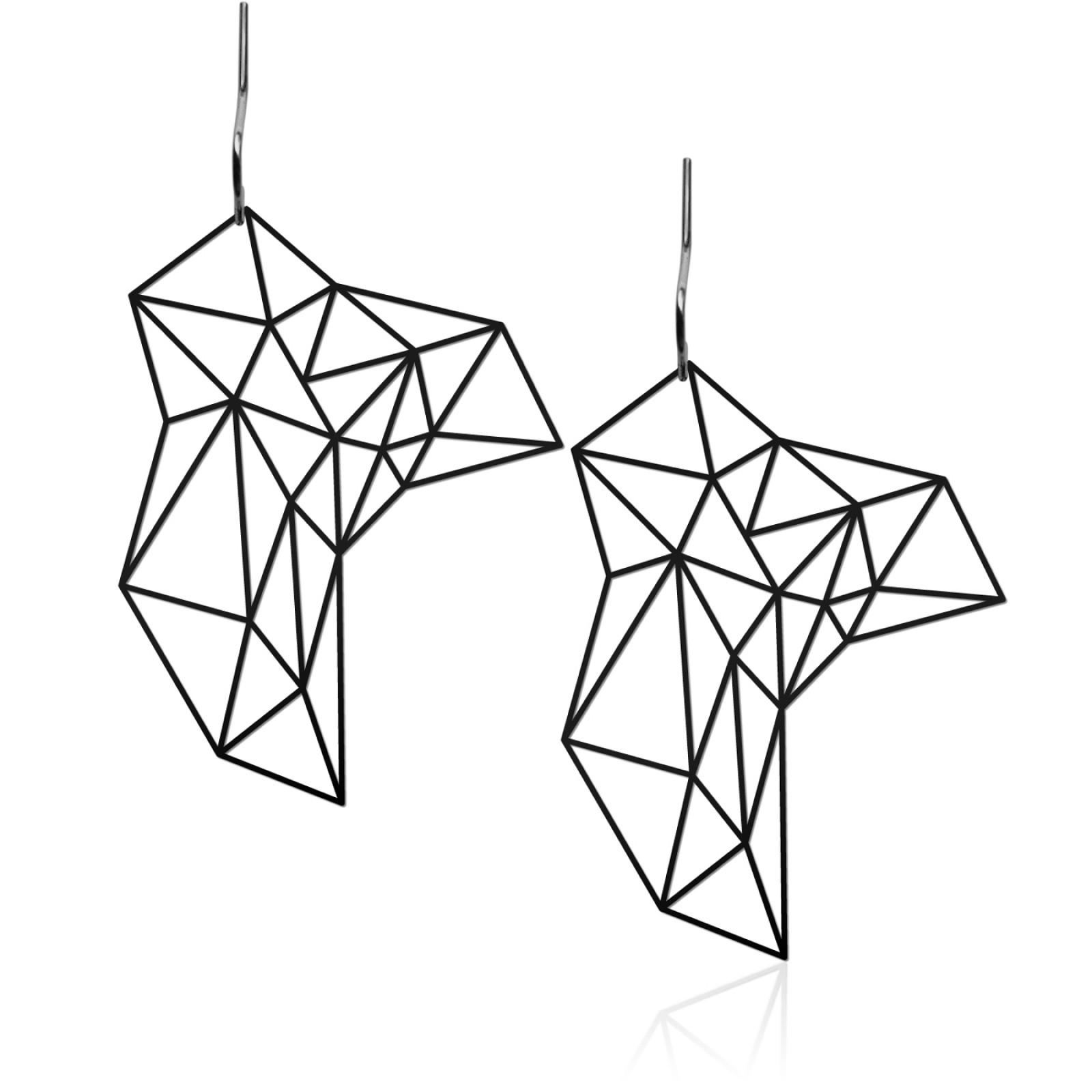 Stone Earrings M (Black) - Moorigin