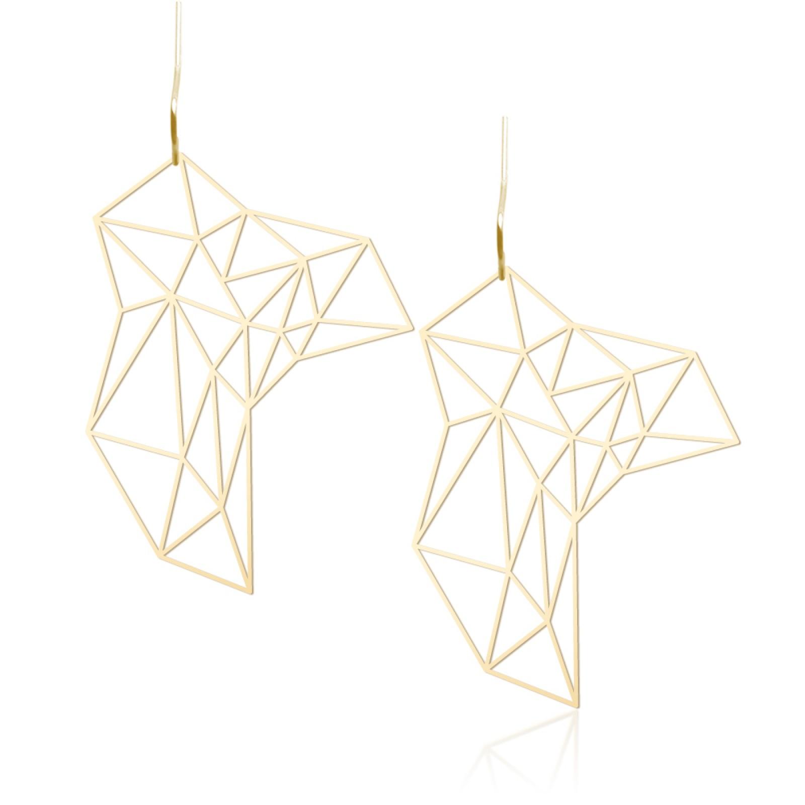 Stone Earrings M (Gold) - Moorigin