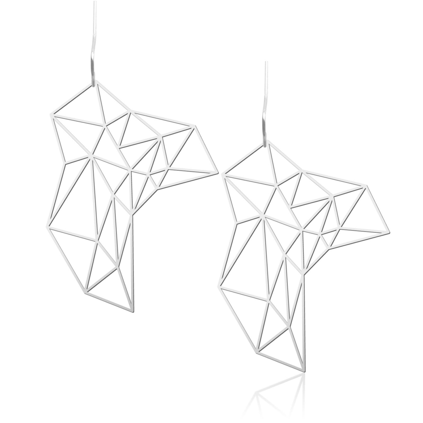 Stone Earrings M (Silver) - Moorigin