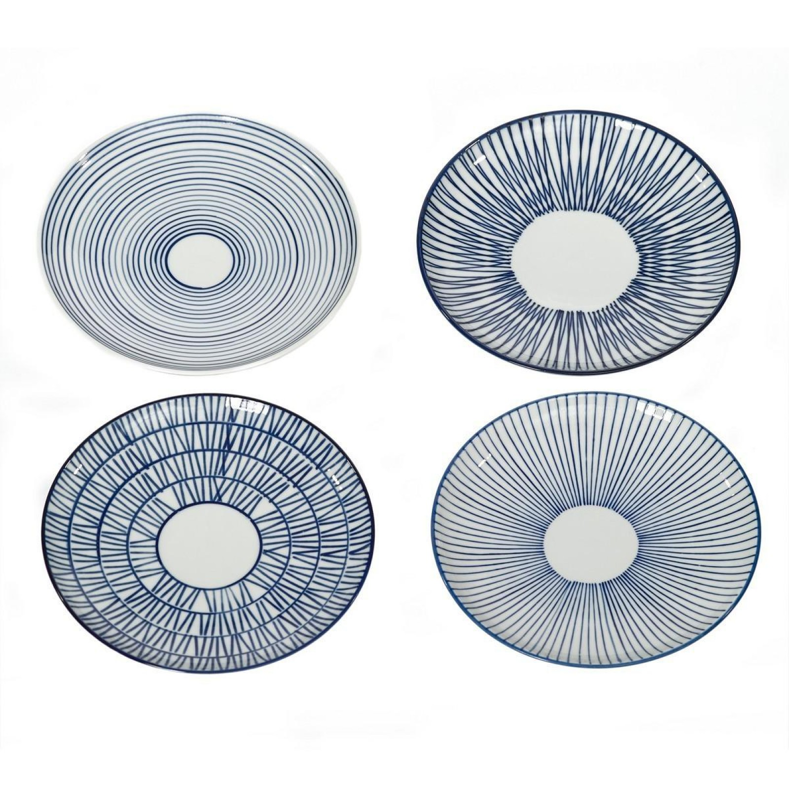 Stripes Vario Plate Set of 4 - pols potten