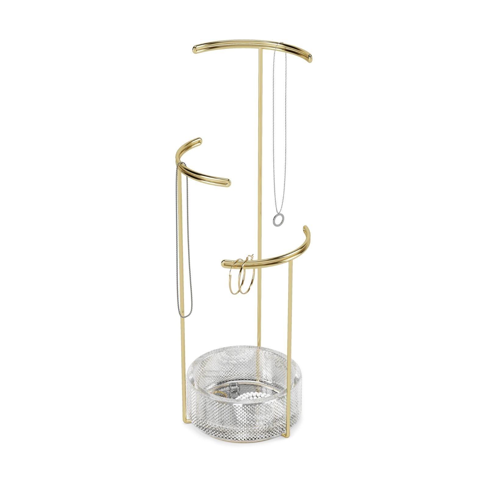 Tesora Jewelry Stand (Glass / Brass) - Umbra