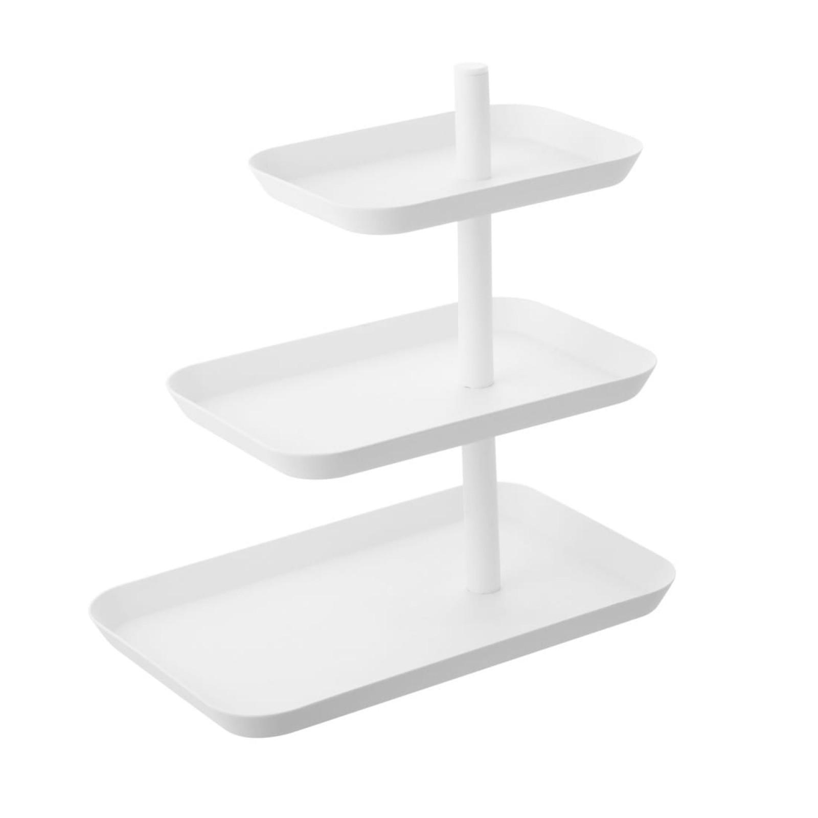 Tower 3-Tiered Serving Stand (White) - Yamazaki