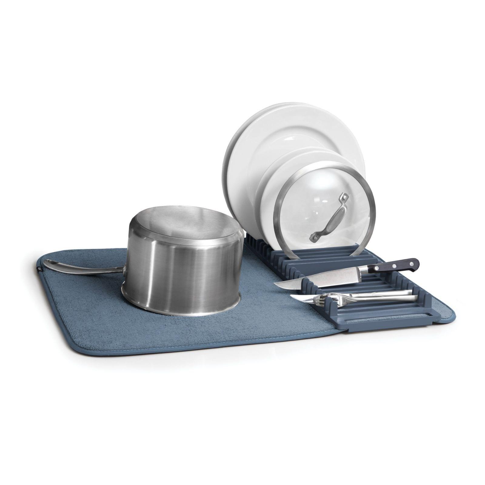 Udry Foldable Drying Mat (Denim) - Umbra