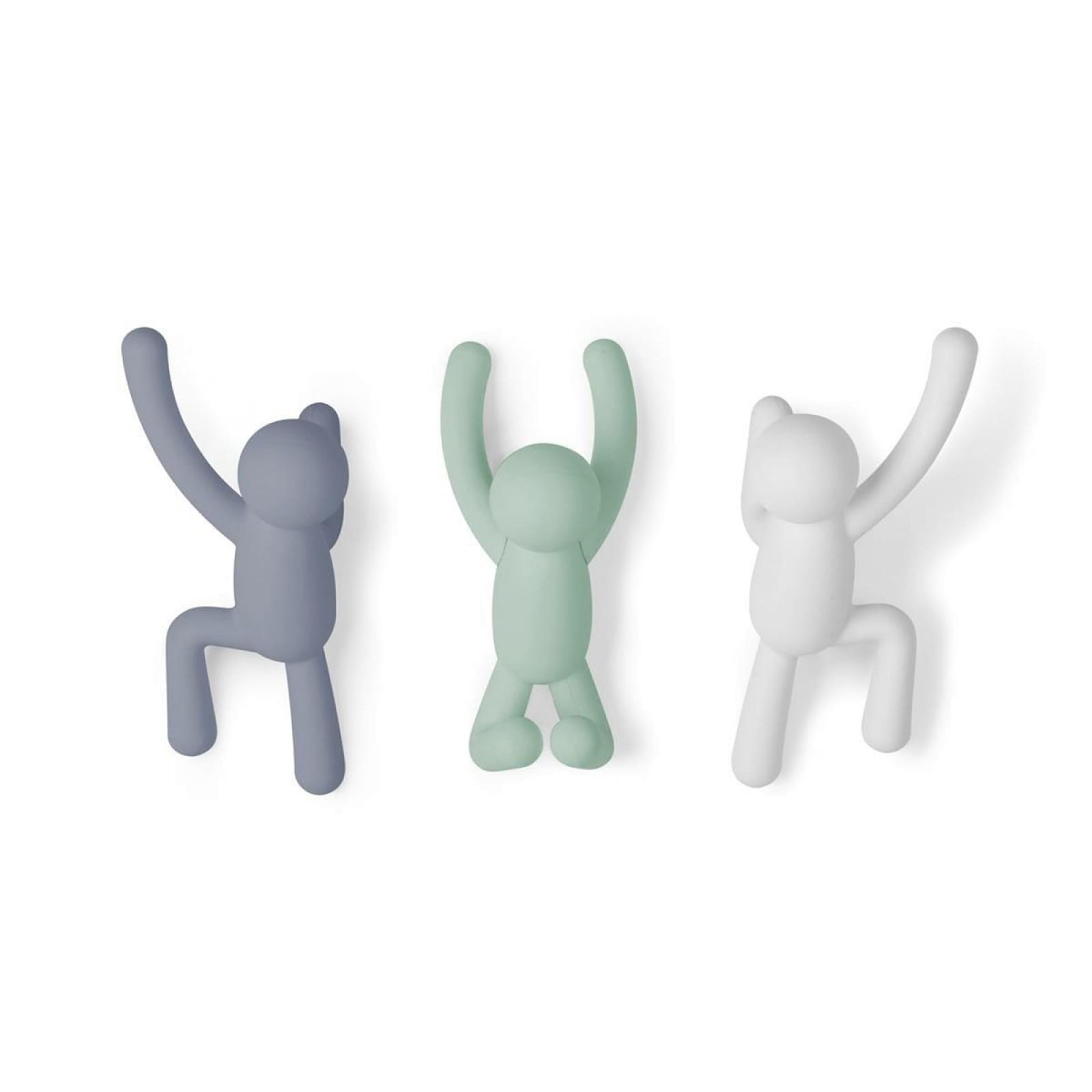 Buddy Hook Set of 3 (Multicolor Soft) - Umbra