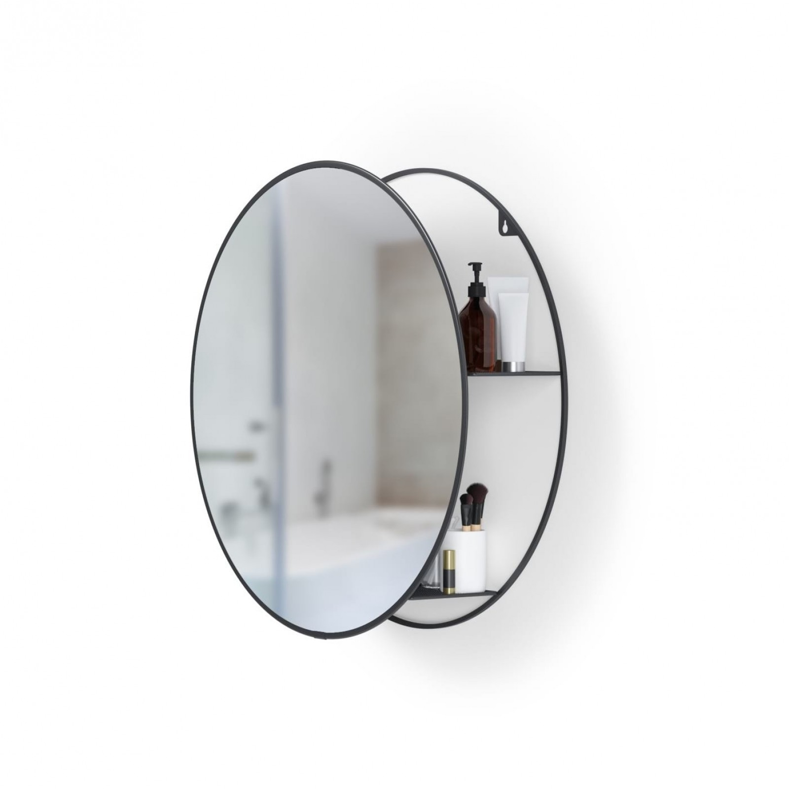 Cirko Wall Mirror and Storage Unit (Black) - Umbra