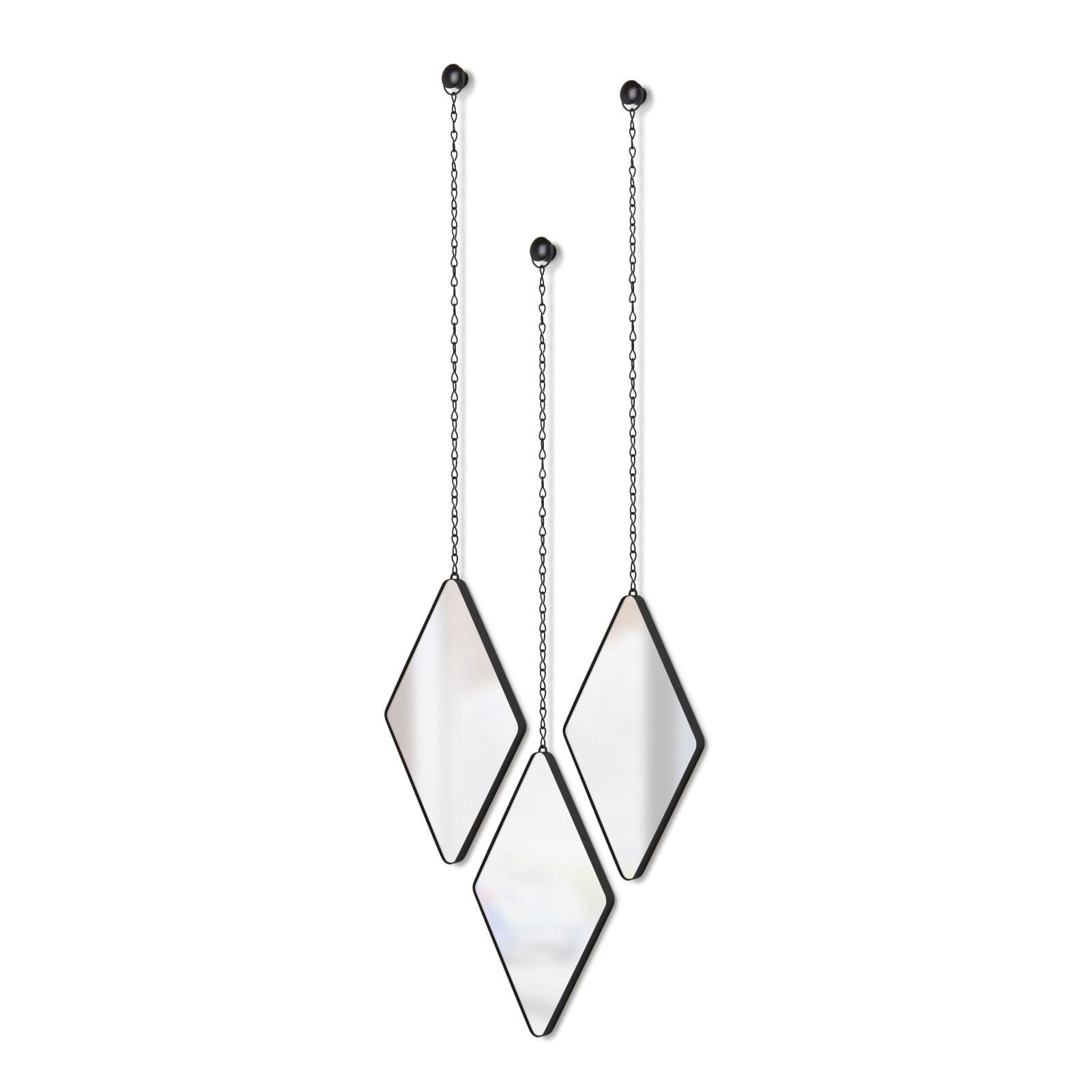 Dima Mirrors Set of 3 (Black) - Umbra