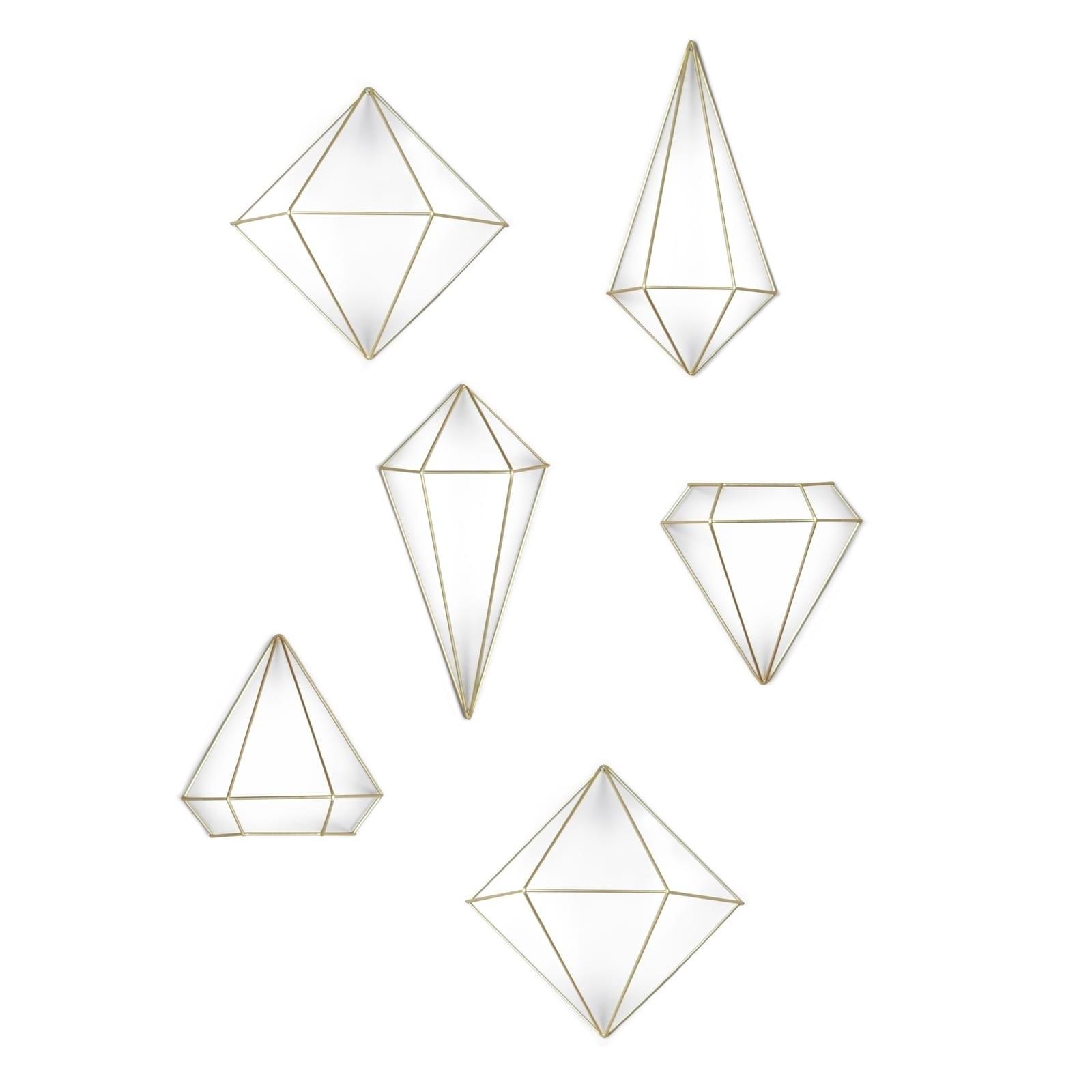 Prisma Wall Decor Set of 6 (Brass) - Umbra