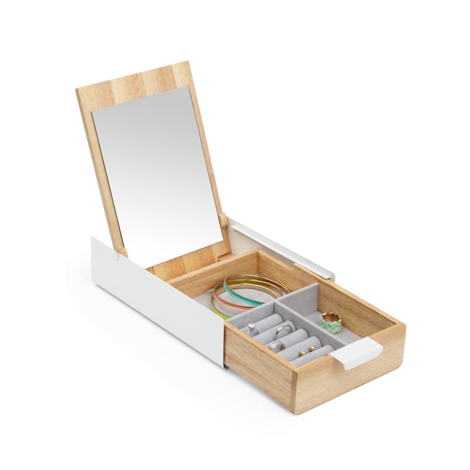 Reflexion Jewelry Storage Box (White / Natural) - Umbra