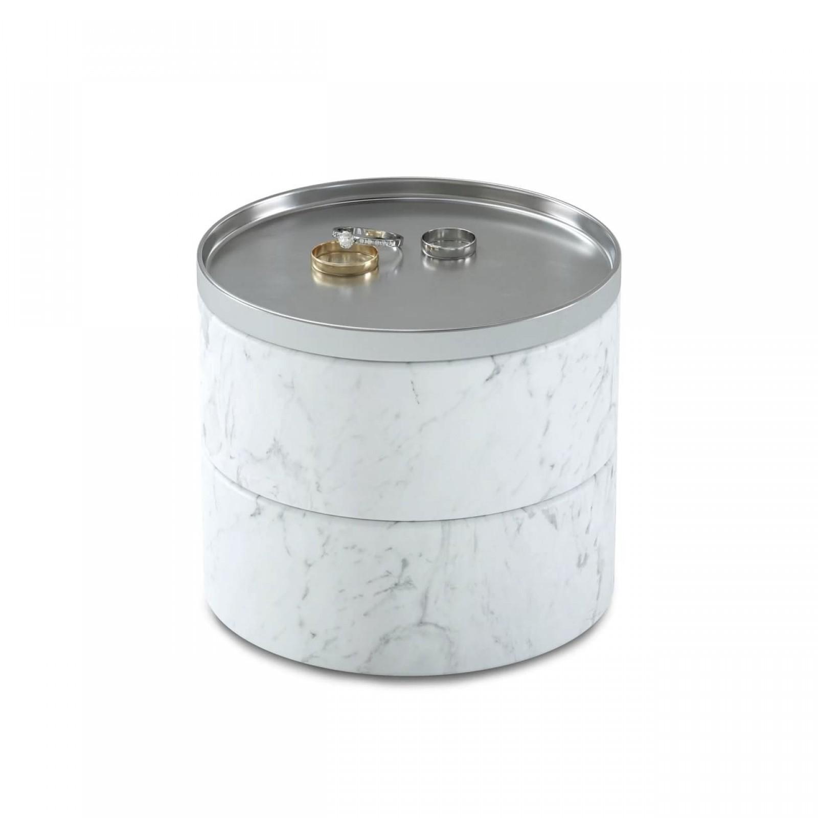 Tesora Jewelry Box (White / Nickel) - Umbra