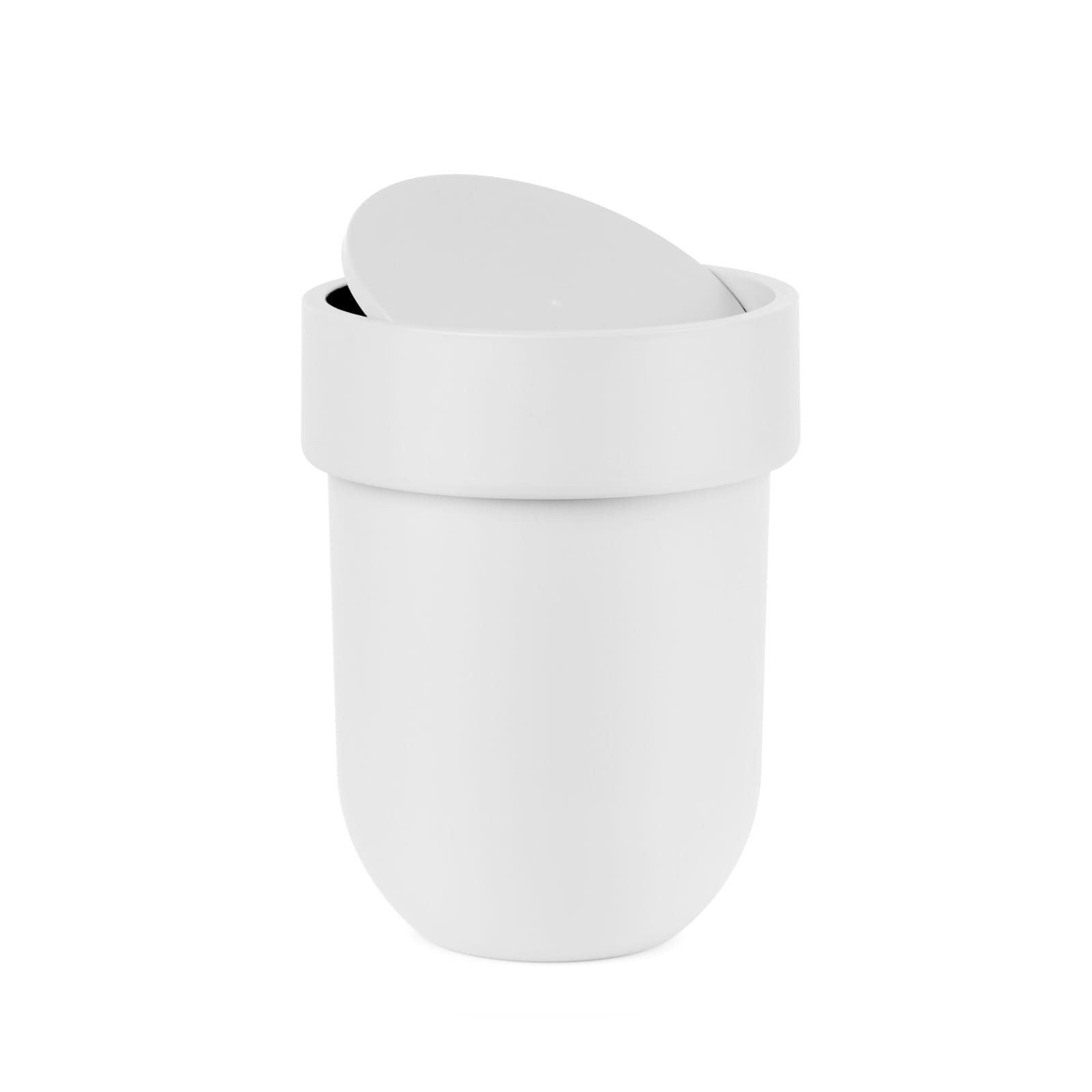 Touch Waste Can With Lid (White) - Umbra