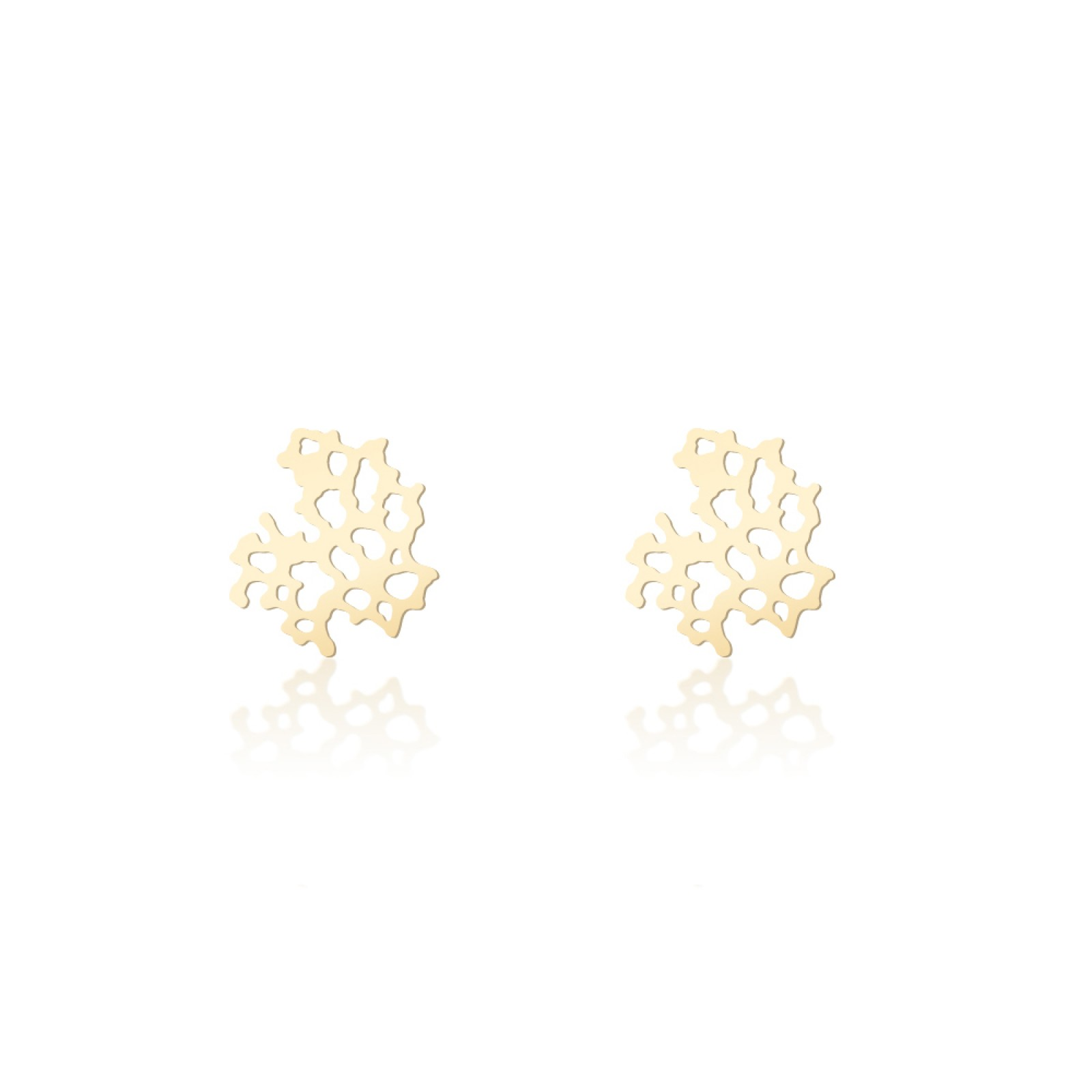 Weathered Rock Earrings XS (Gold) - Moorigin