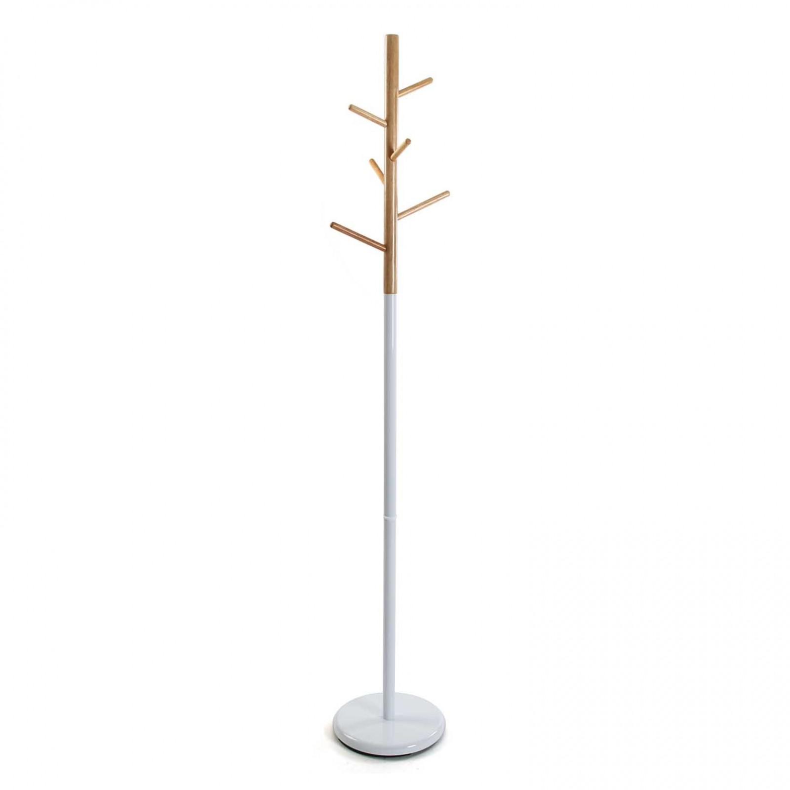 White Tree Coat Rack (Metal / Wood) - Versa
