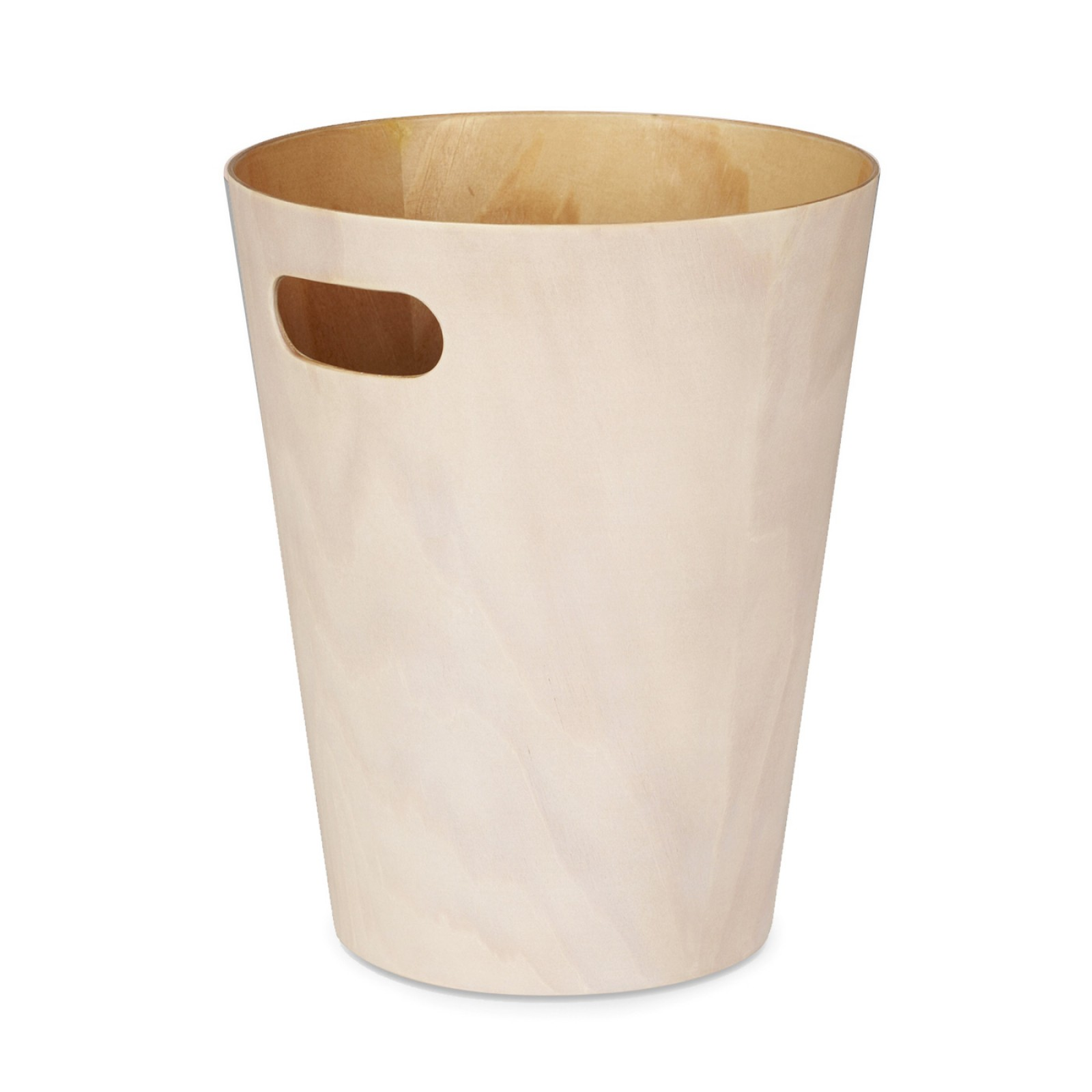 Woodrow Trash Can (White / Natural) - Umbra
